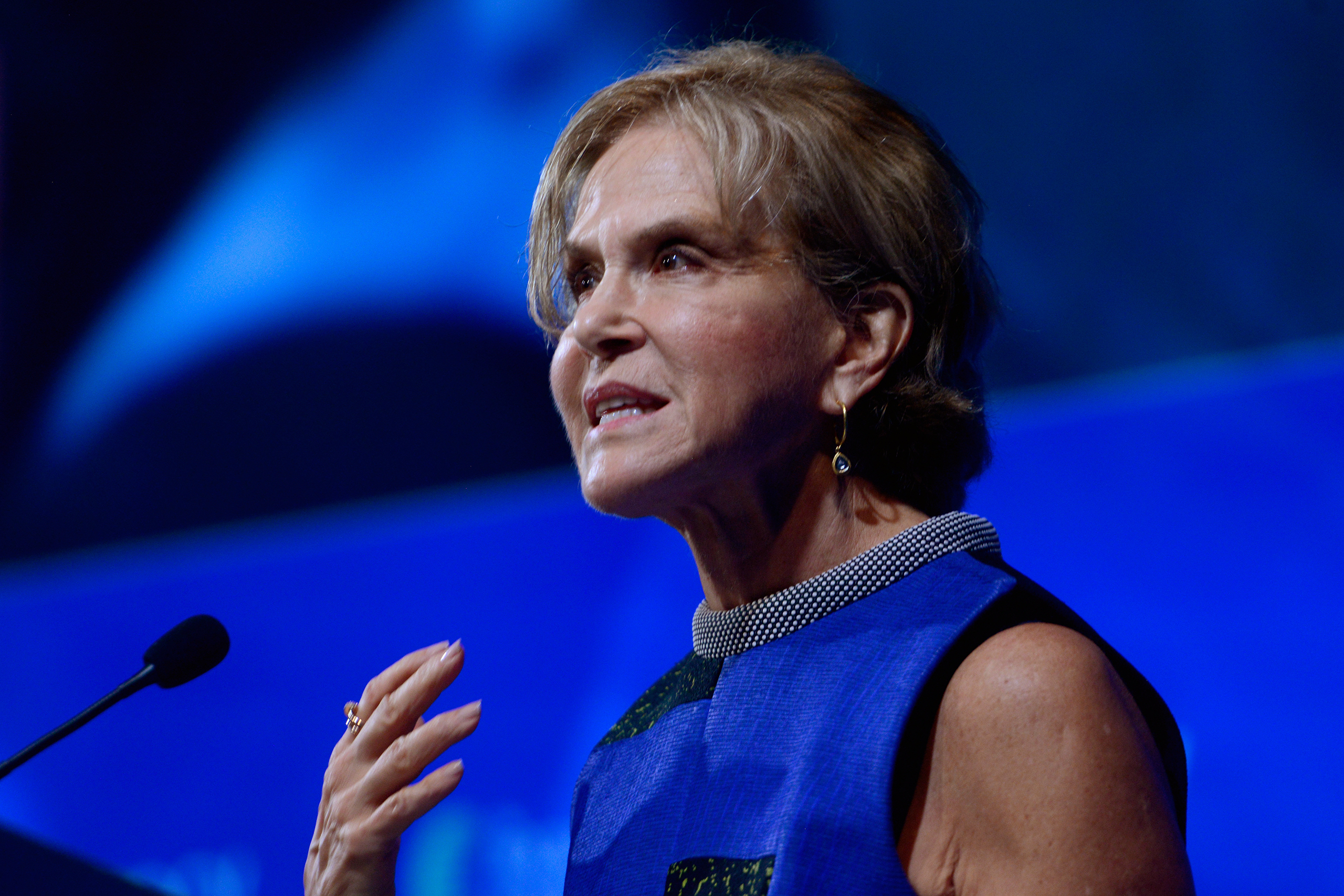 Judith Rodin, president of the Rockefeller Foundation, speaks during the 2015 Concordia Summit at Grand Hyatt New York on Oct. 1, 2015.