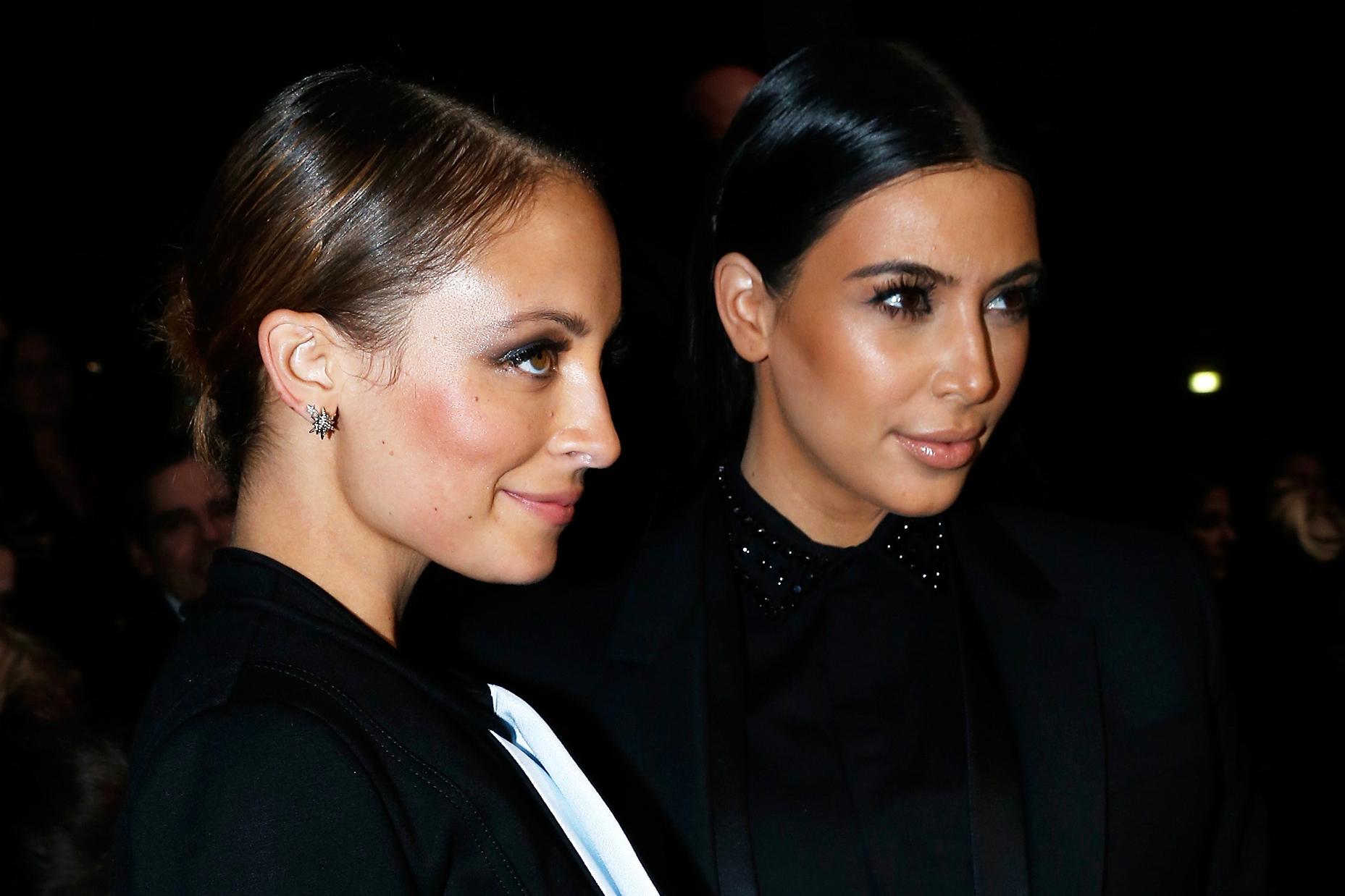 Nicole Richie and Kim Kardashian