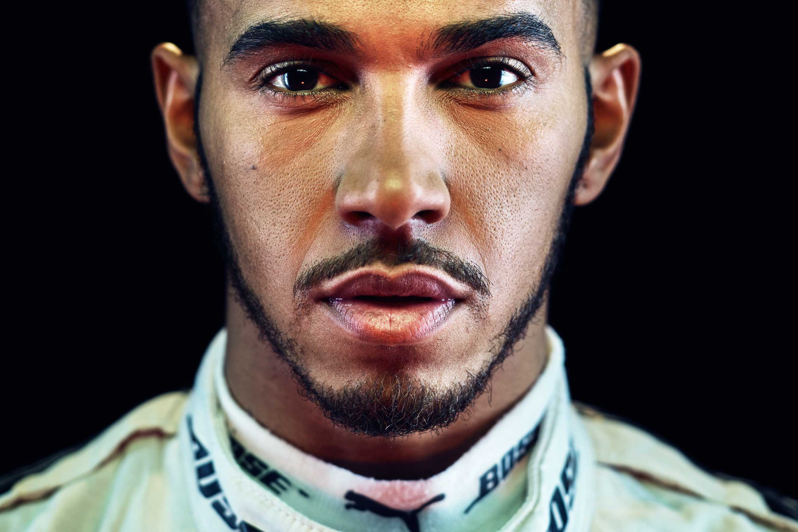 British Formula One racing driver Lewis Hamilton poses for a portrait at the TIME photo studio in New York City on Tuesday, Nov 1, 2016.