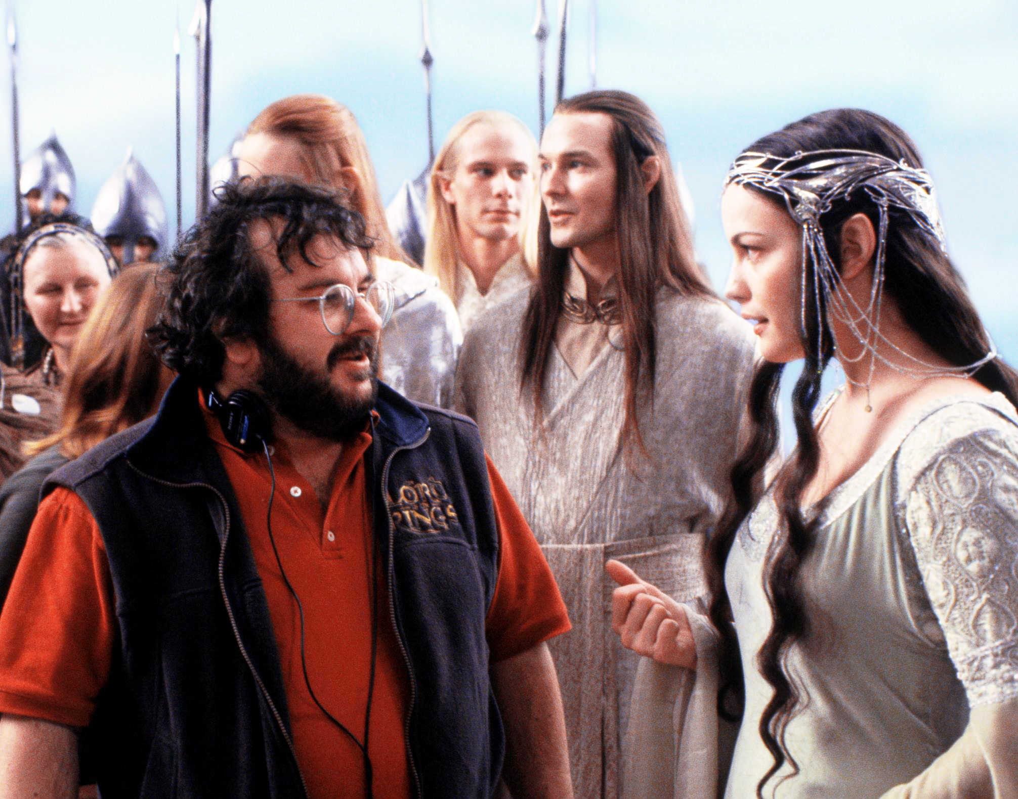 Peter Jackson and Liv Tyler filming The Lord of the Rings: The Return of the King, 2003.