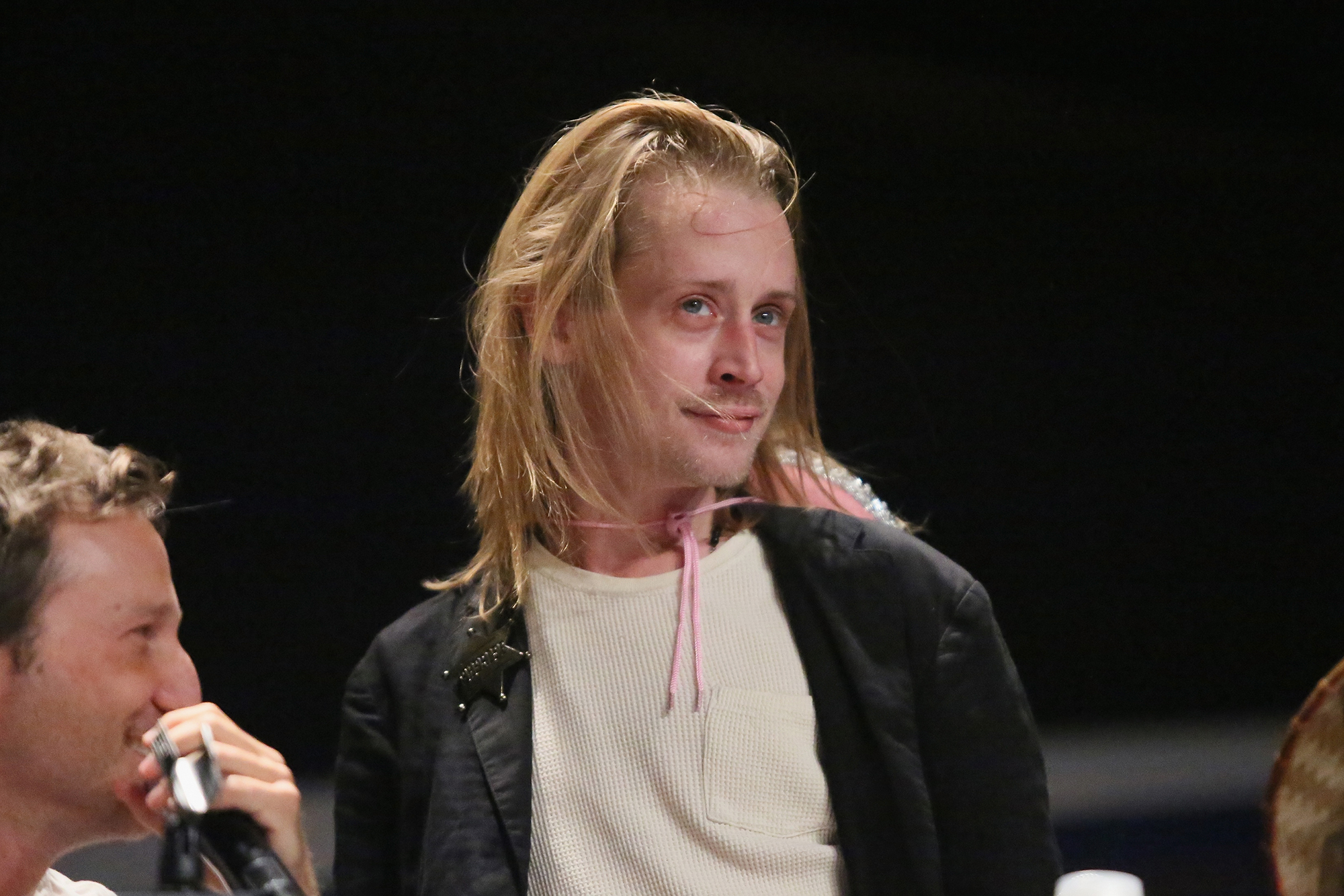 Macaulay Culkin attends The Adult Swim RobotChicken Panel At New York Comic Con 2014 on October 10, 2014 (Photo by Astrid Stawiarz/WireImage for Turner Networks)