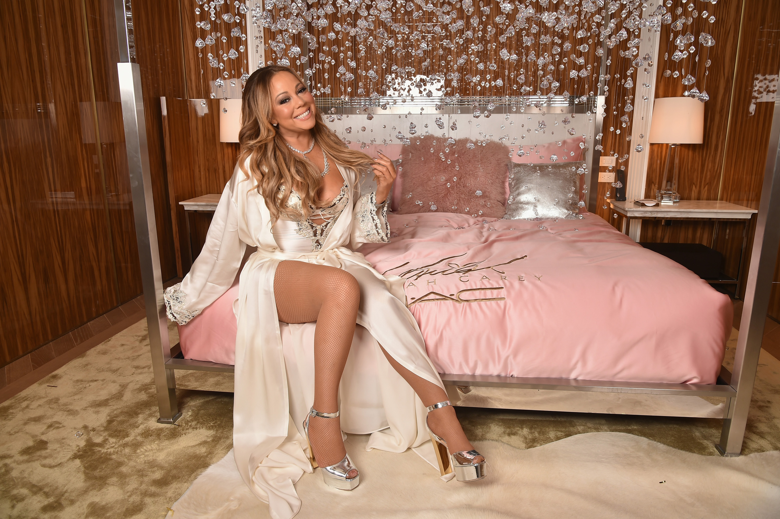 Mariah Carey attends the M.A.C Cosmetics Mariah Carey Beauty Icon Launch at Baccarat Hotelin New York City, on Dec. 3, 2016.