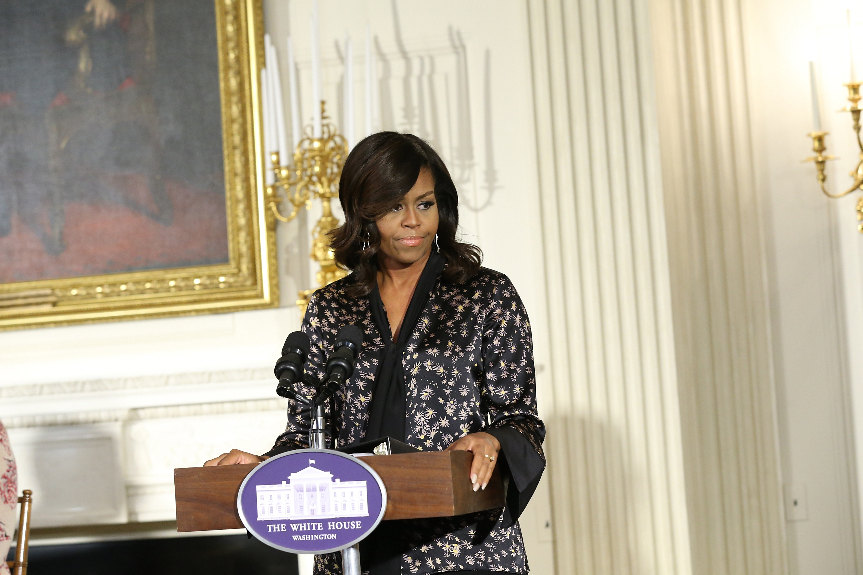 WASHINGTON, DC - OCTOBER 21:  First Lady of the United States Michelle Obama attends  An Obama Celebration  - Workshop at The White House on October 21, 2016 in Washington, DC.  (Photo by Bennett Raglin/BET/Getty Images for BET)