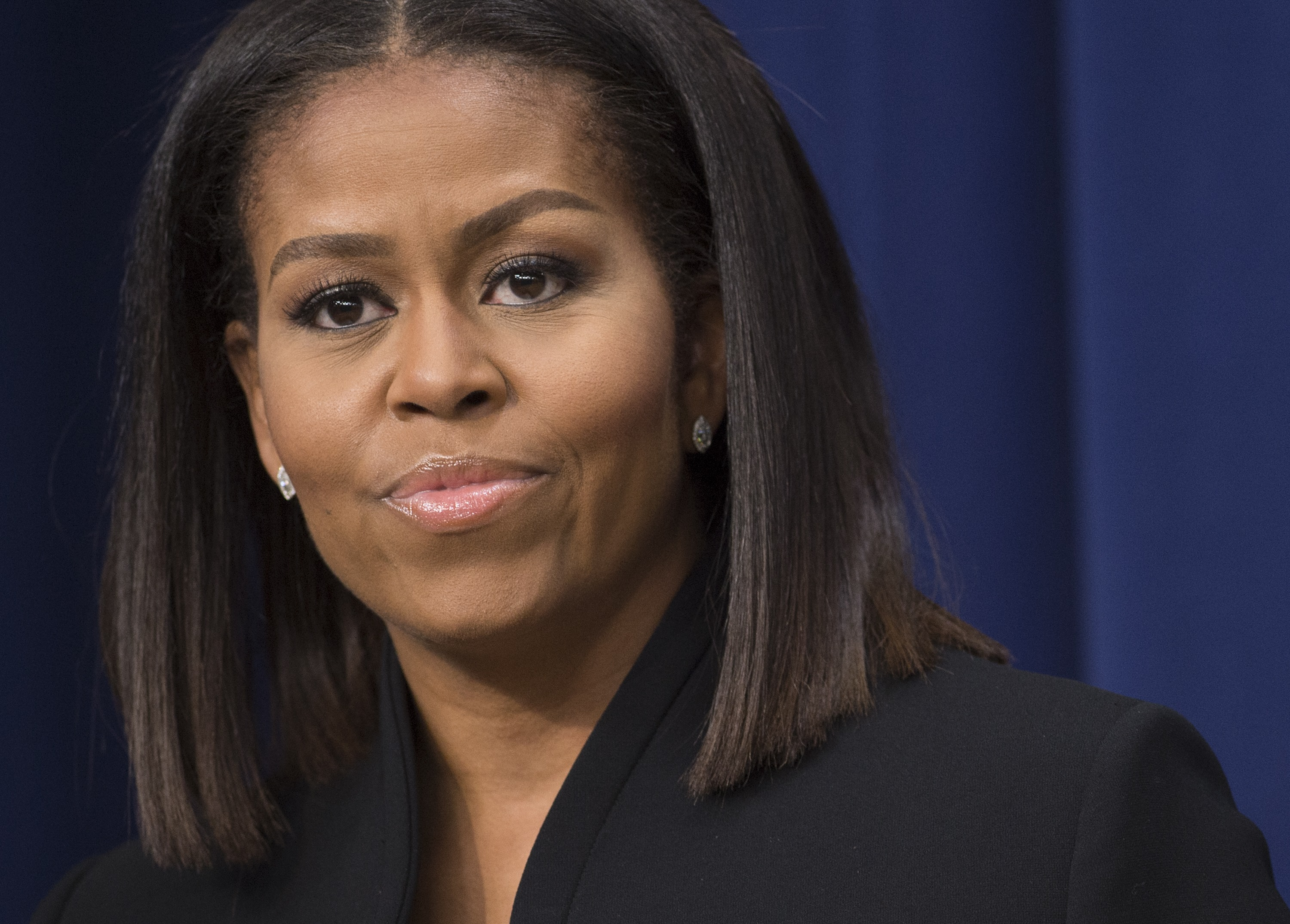 First Lady Michelle Obama speaks following a screening of the movie,  Hidden Figures,  in the Eisenhower Executive Office Building adjacent to the White House in Washington, D.C. on Dec. 15, 2016.