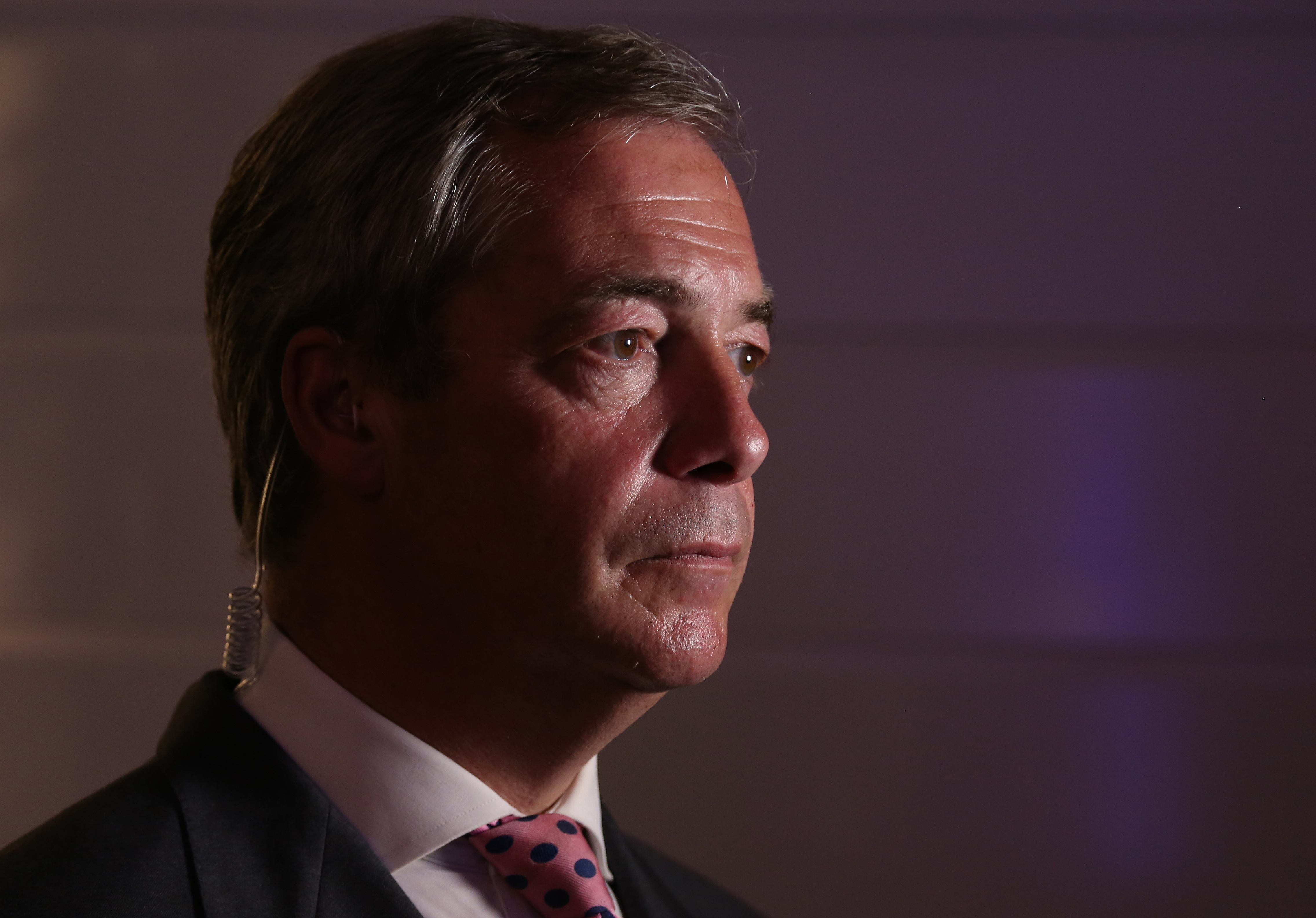 Nigel Farage during an interview in London on June 23 2016.