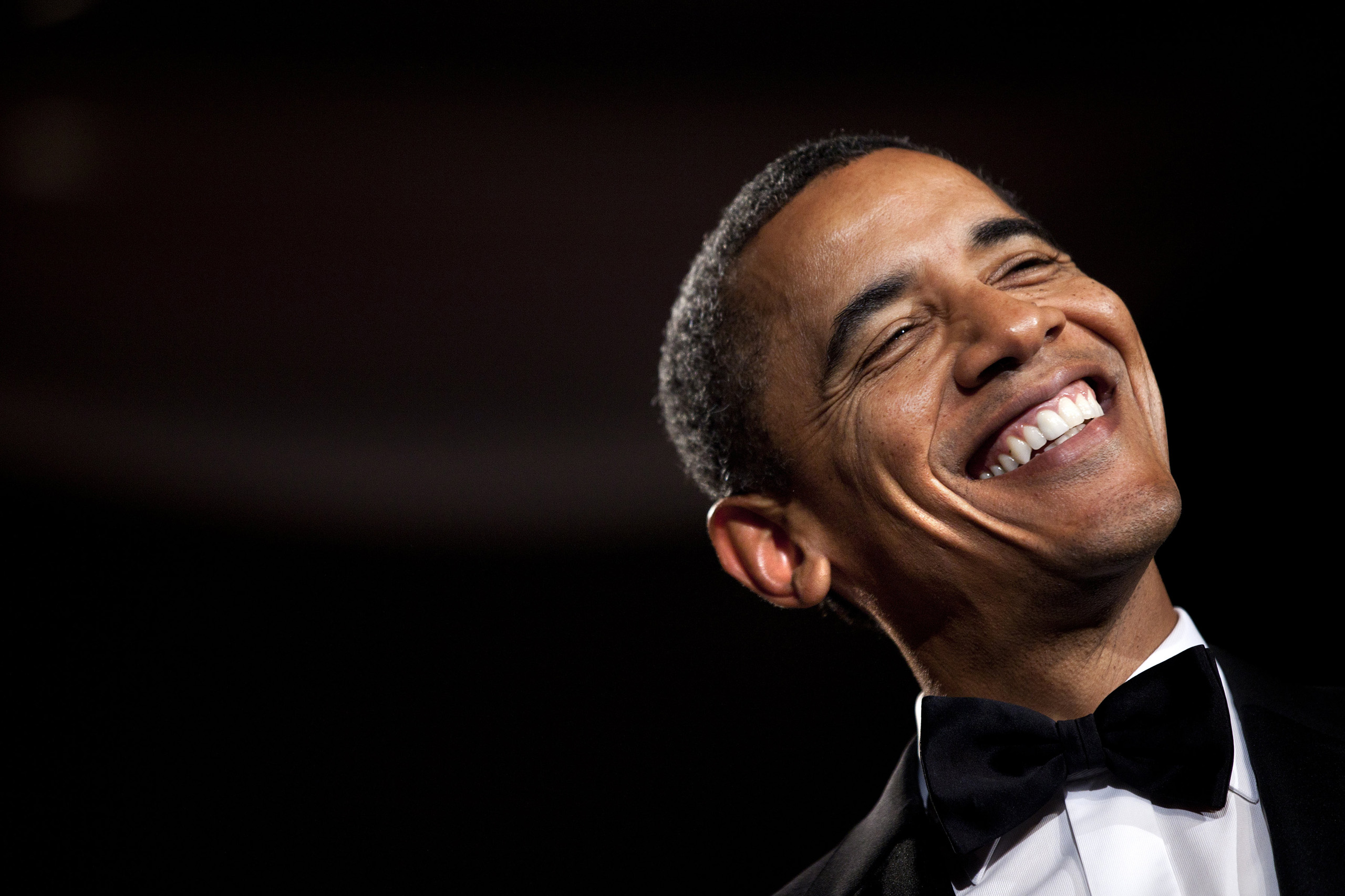 Barack Obama smiles while speaking during the 36th annual National Italian American Foundation Gala on Oct. 29, 2011.