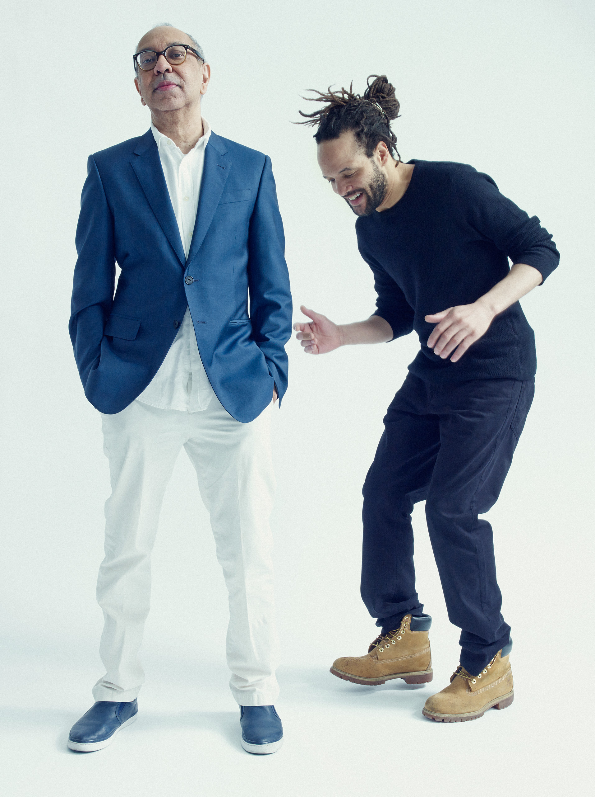 Shuffle Along director George C. Wolfe, left, and choreographer Savion Glover.From  Broadway Shuffle.  May 23, 2016 issue.