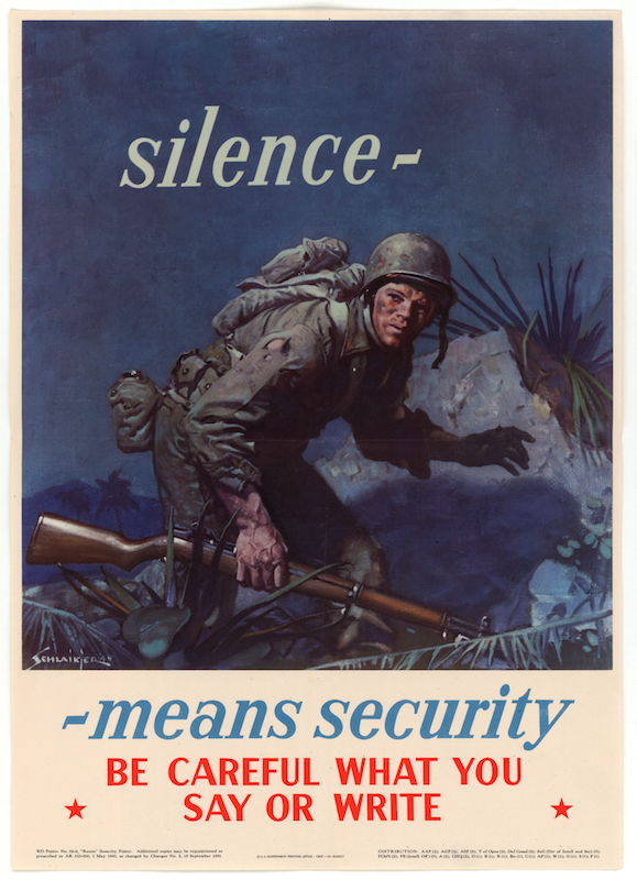 A World War II poster from the Office of War Information