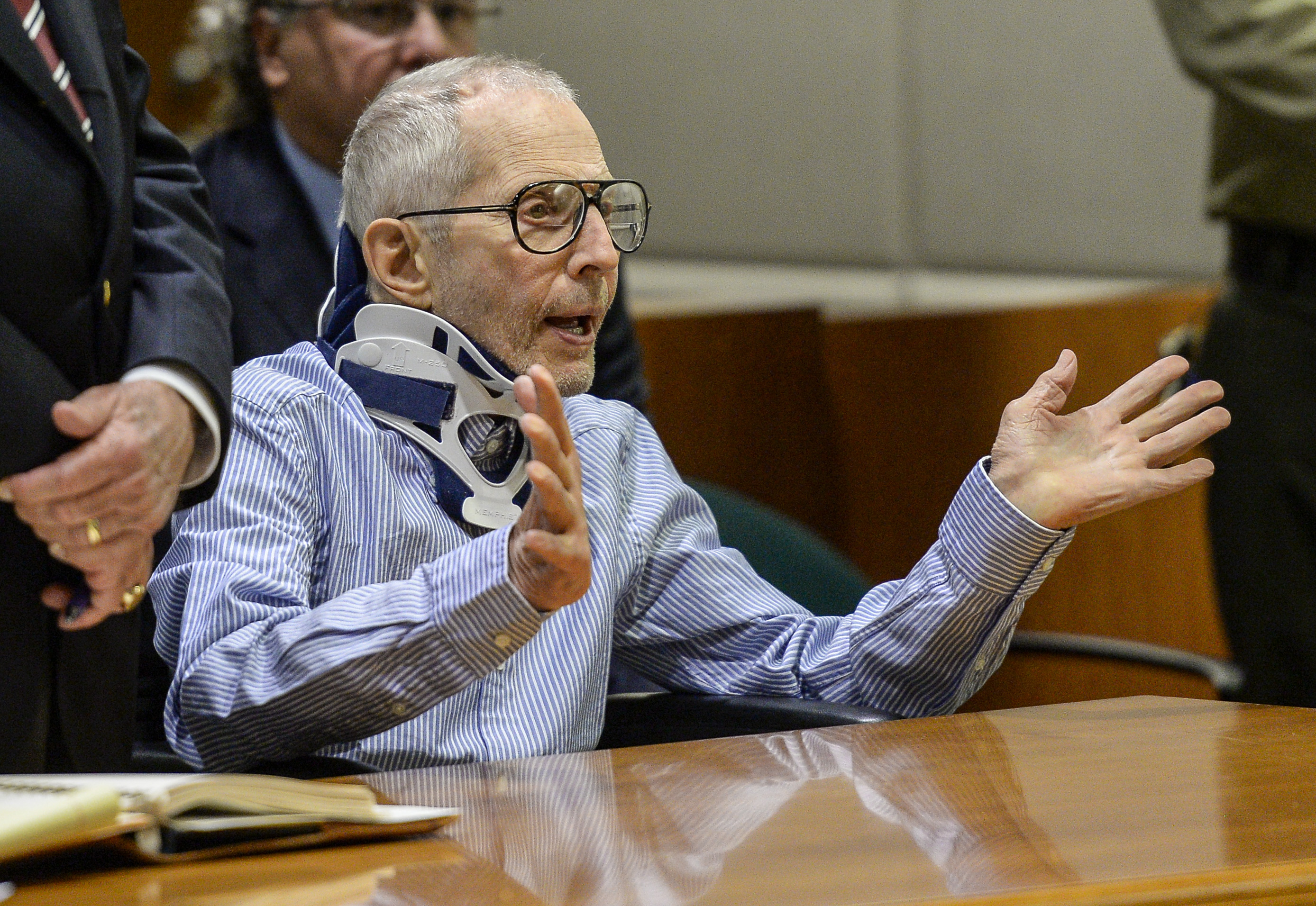 Real Estate Heir Robert Durst appears in the Airport Branch of the Los Angeles County Superior Court on Nov. 7, 2016 in Los Angeles, California.