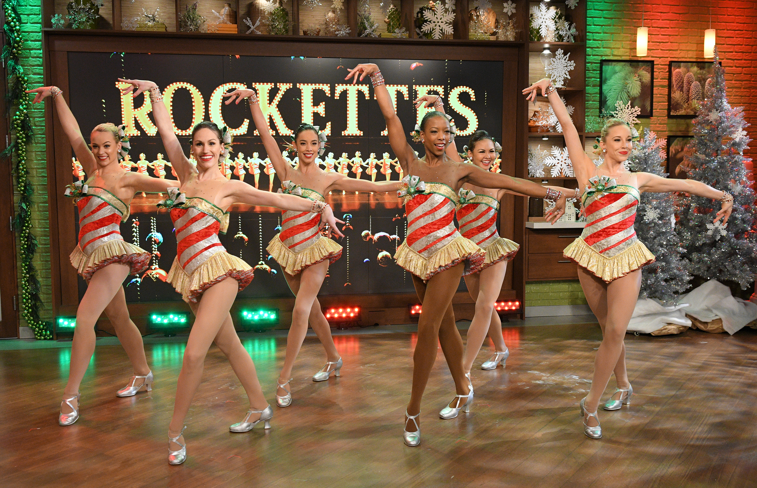 The Rockettes appear Dec. 16, 2016 on ABC's  The Chew.