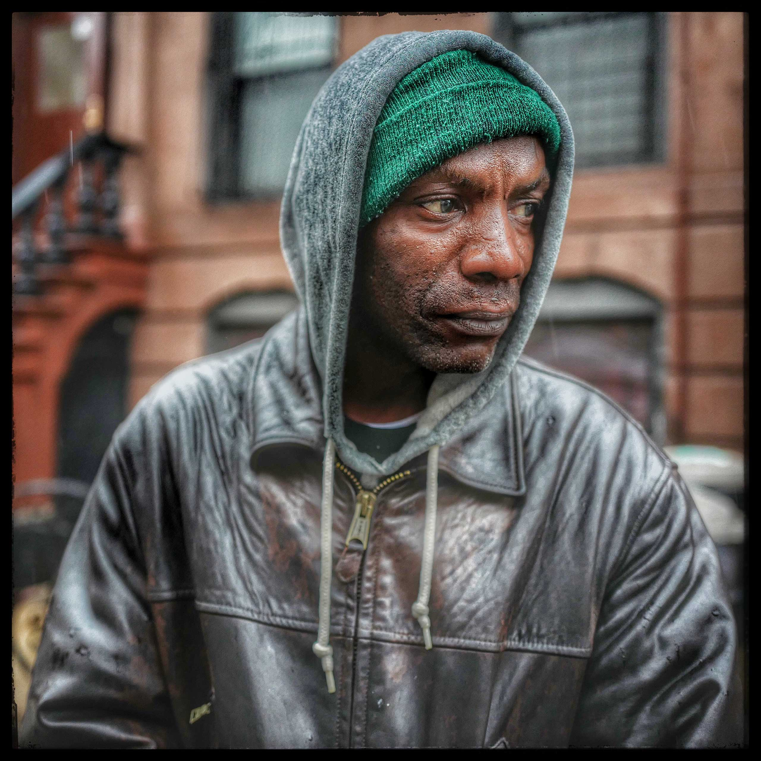 Davone struggles with finding steady work and drug abuse. He is usually at the corner of Bedford and Atlantic Ave asking motorists for money to feed his habit or his hunger.