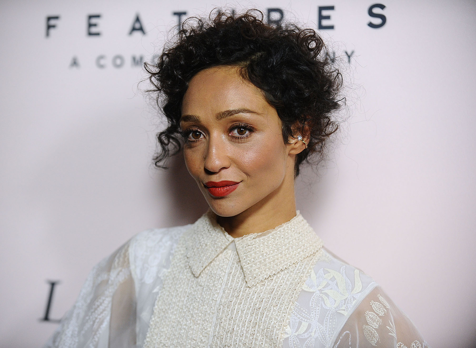Ruth Negga attends the premiere of  Loving  at Samuel Goldwyn Theater on October 20, 2016 in Beverly Hills, California.  (Photo by Jason LaVeris/FilmMagic)