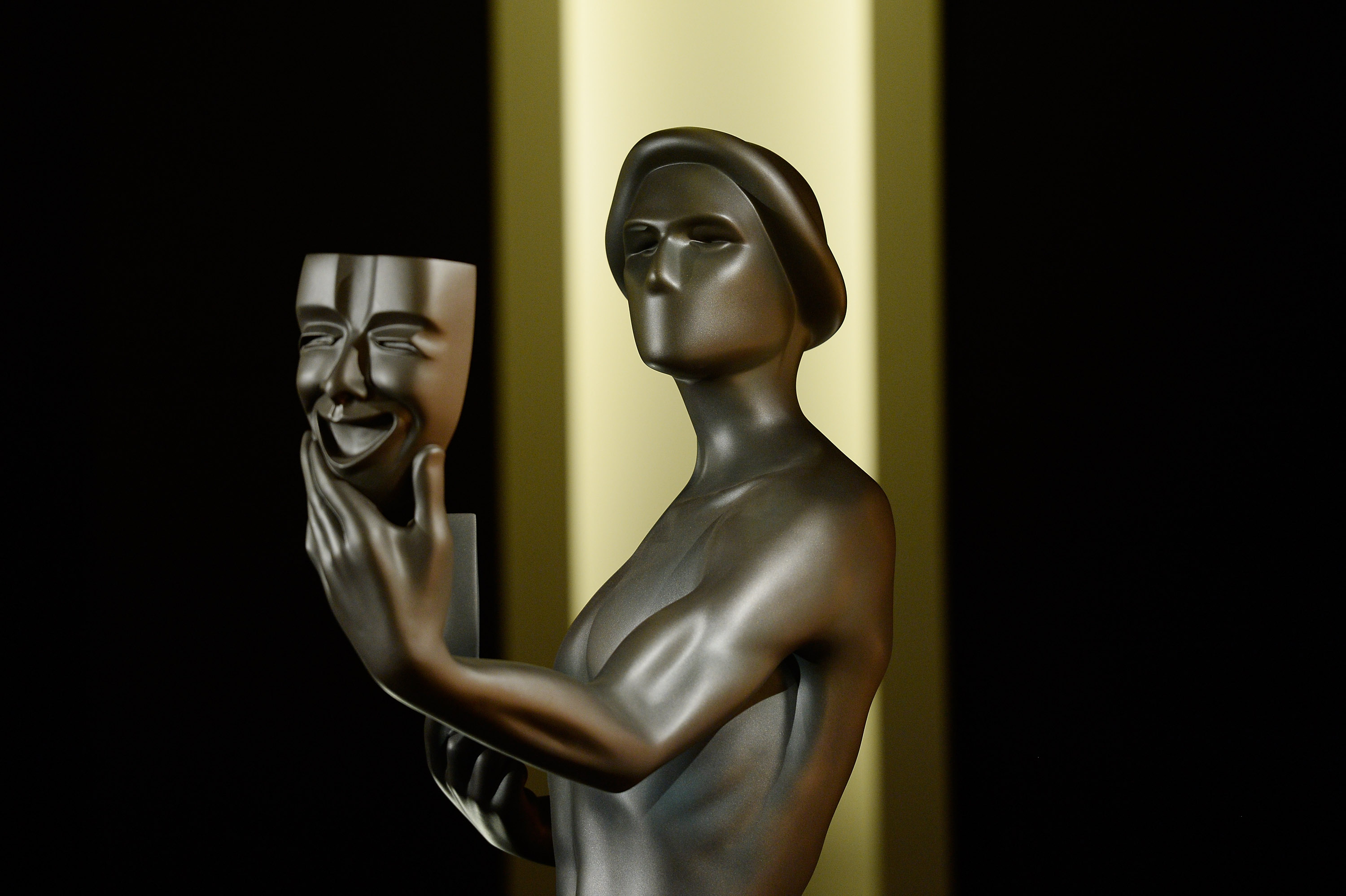 The actor statue is seen during the 23rd annual SAG Awards nominations announcement at Pacific Design Center on December 14, 2016 in West Hollywood, California.
