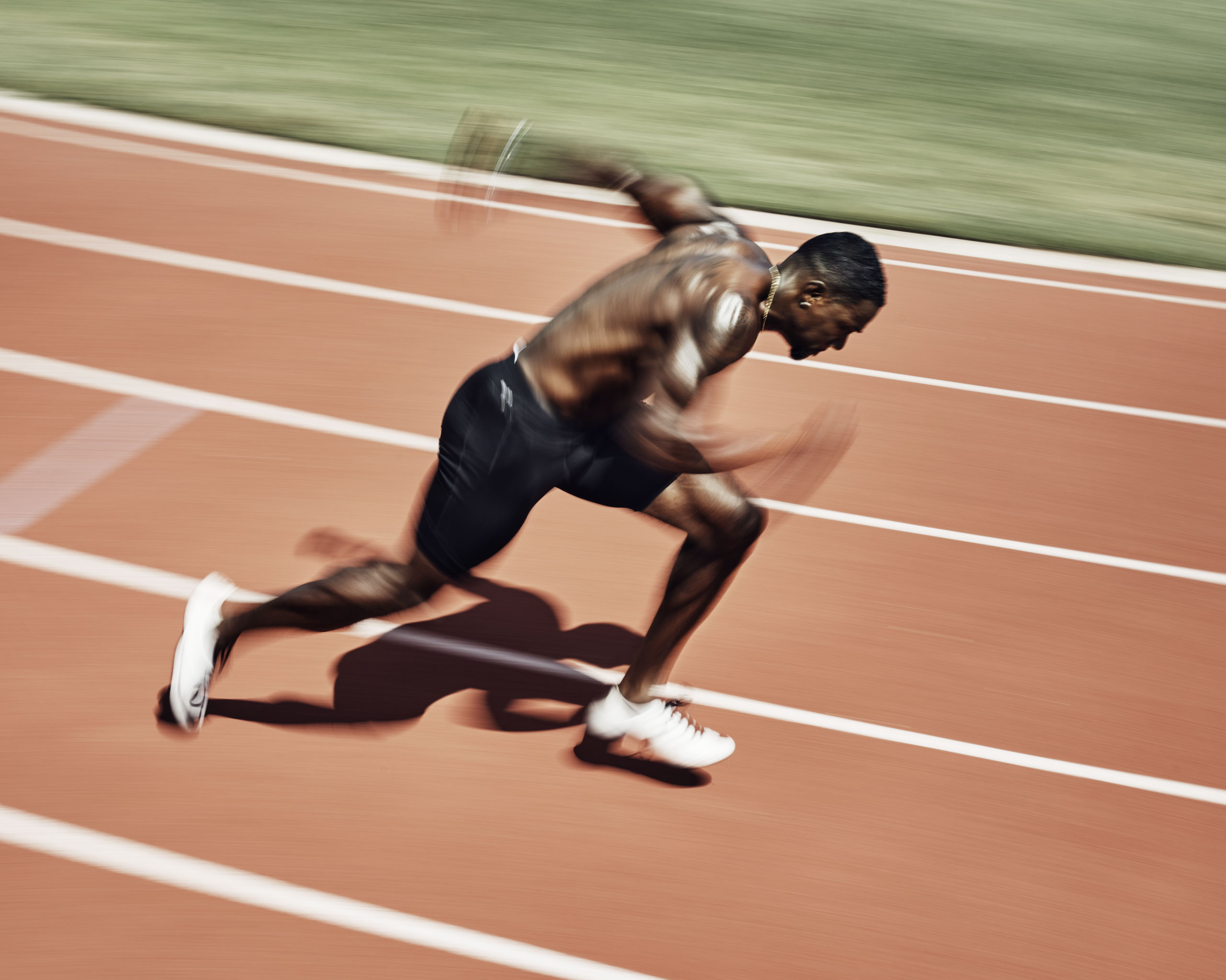 Gold Medalist sprinter Justin Gatlin practices at Montverde Academy in Montverde, Fla. on Fri. July 22, 2016.From  Finding Poetry in Sport Photography