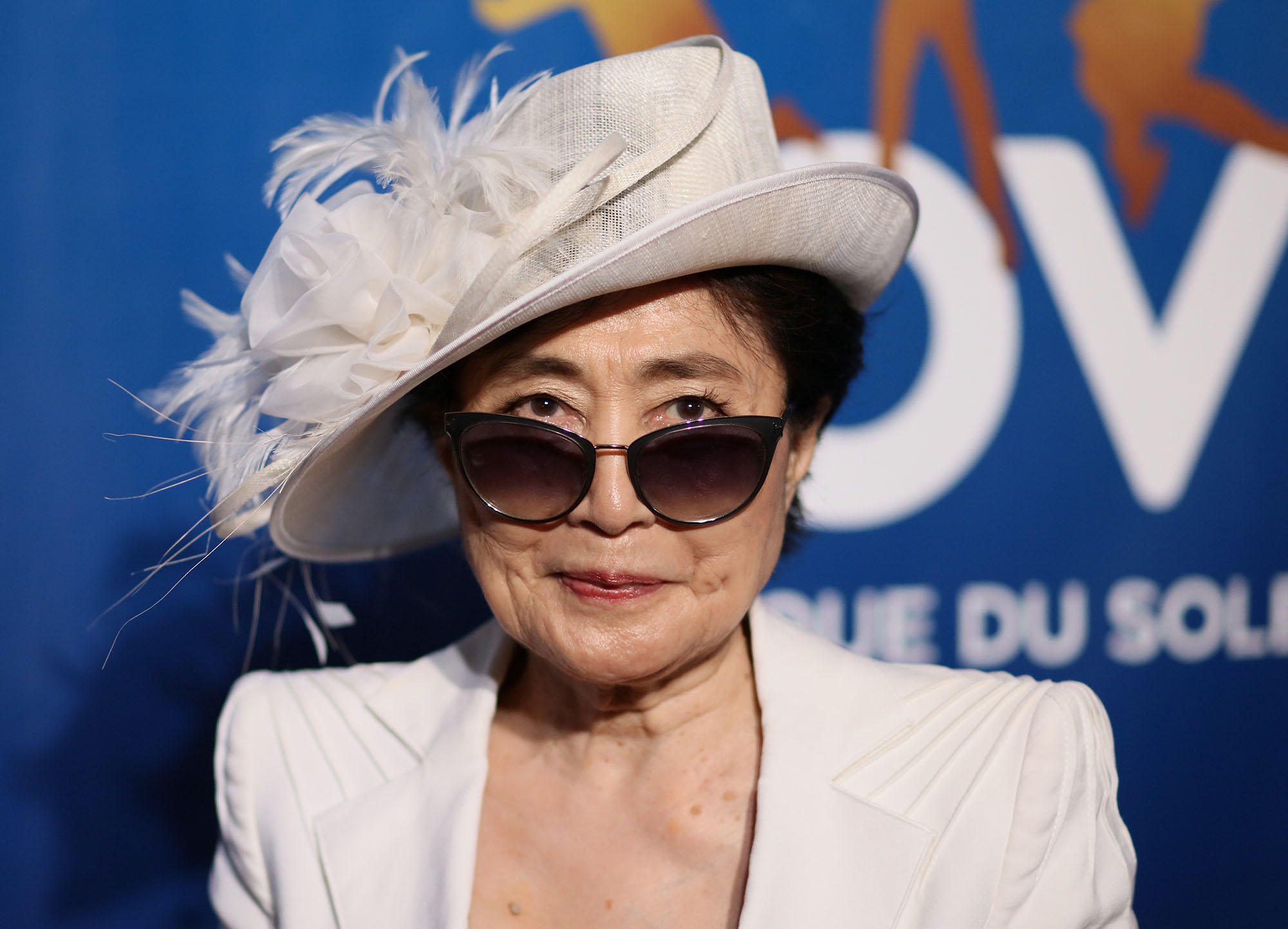 Yoko Ono attends the 10th anniversary celebration of 'The Beatles LOVE by Cirque du Soleil' at The Mirage Hotel & Casino on July 14, 2016 in Las Vegas, Nevada.  (Photo by JB Lacroix/Getty Images)