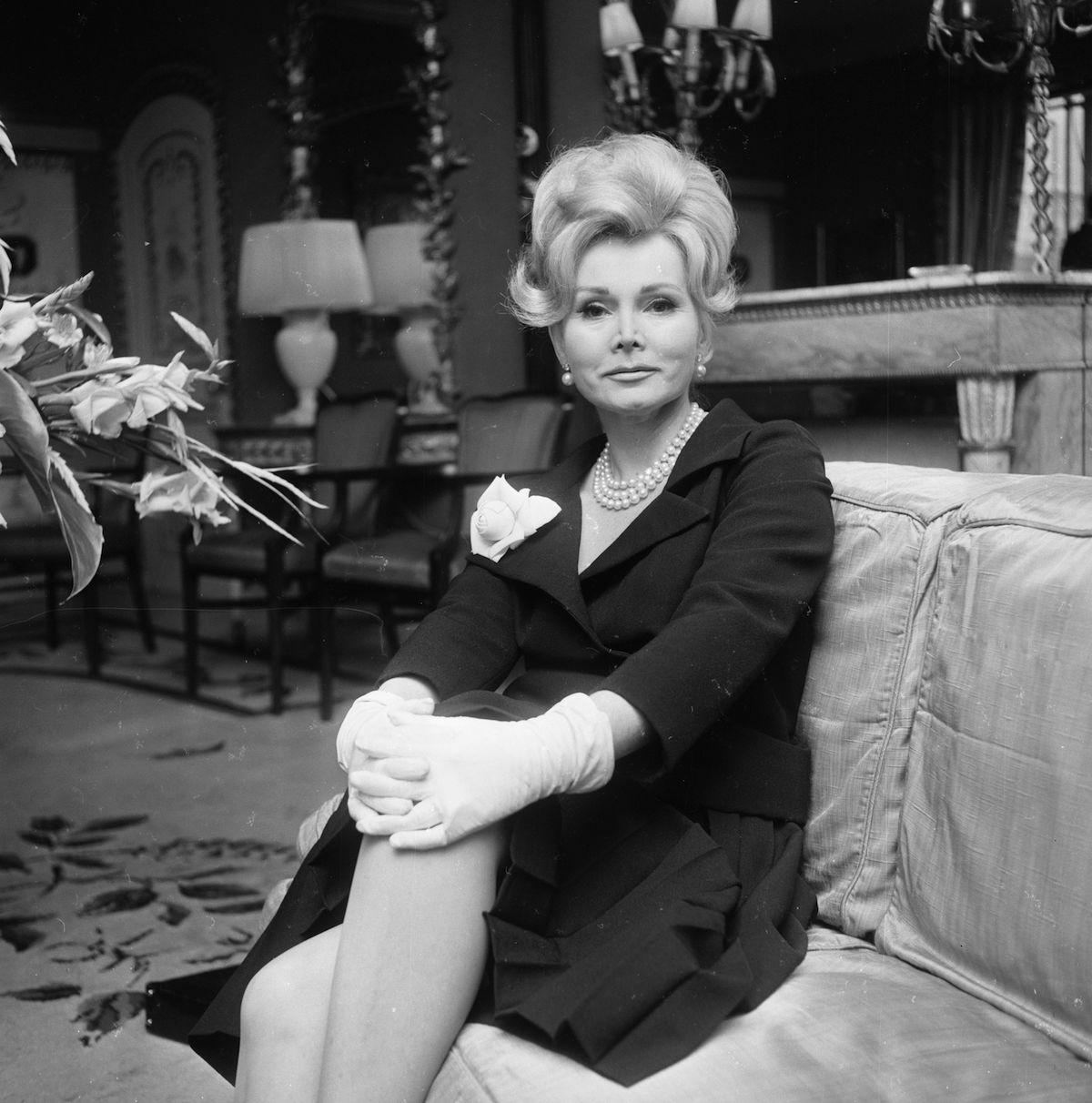 Hungarian actress and celebrity Zsa Zsa Gabor, seen in August of 1965
