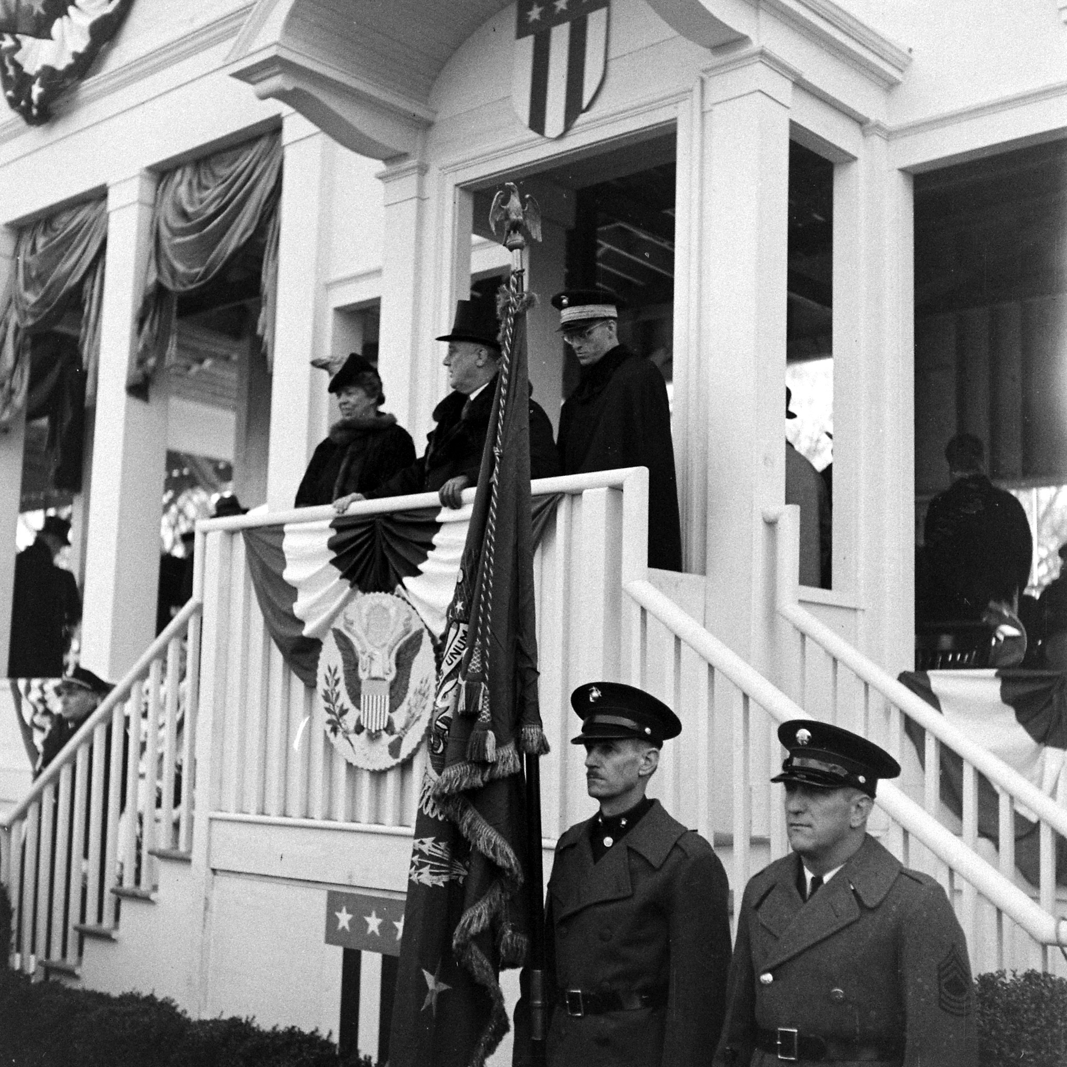 Third inauguration ceremony of President Franklin D. Roosevelt in 1941.