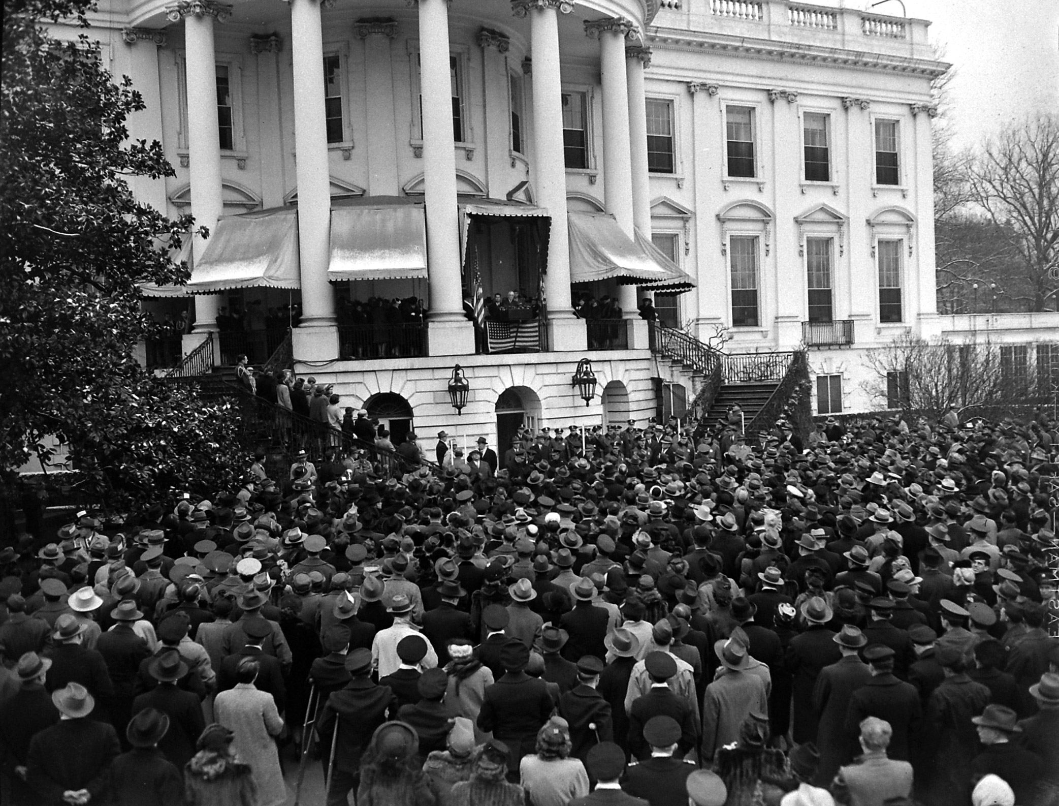 Fourth inauguration ceremony of President Franklin D. Roosevelt in 1945.