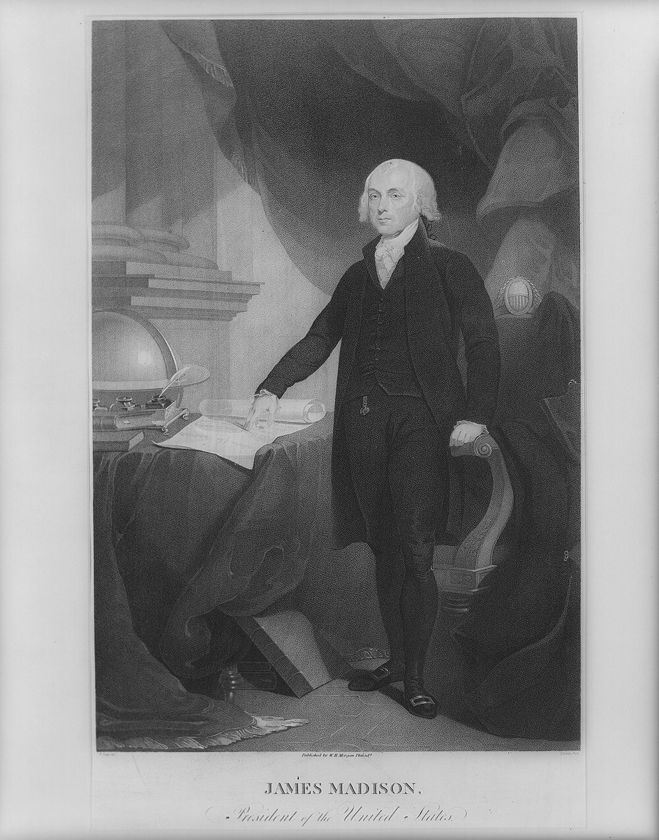 James Madison, the year of his first inauguration in 1809.
