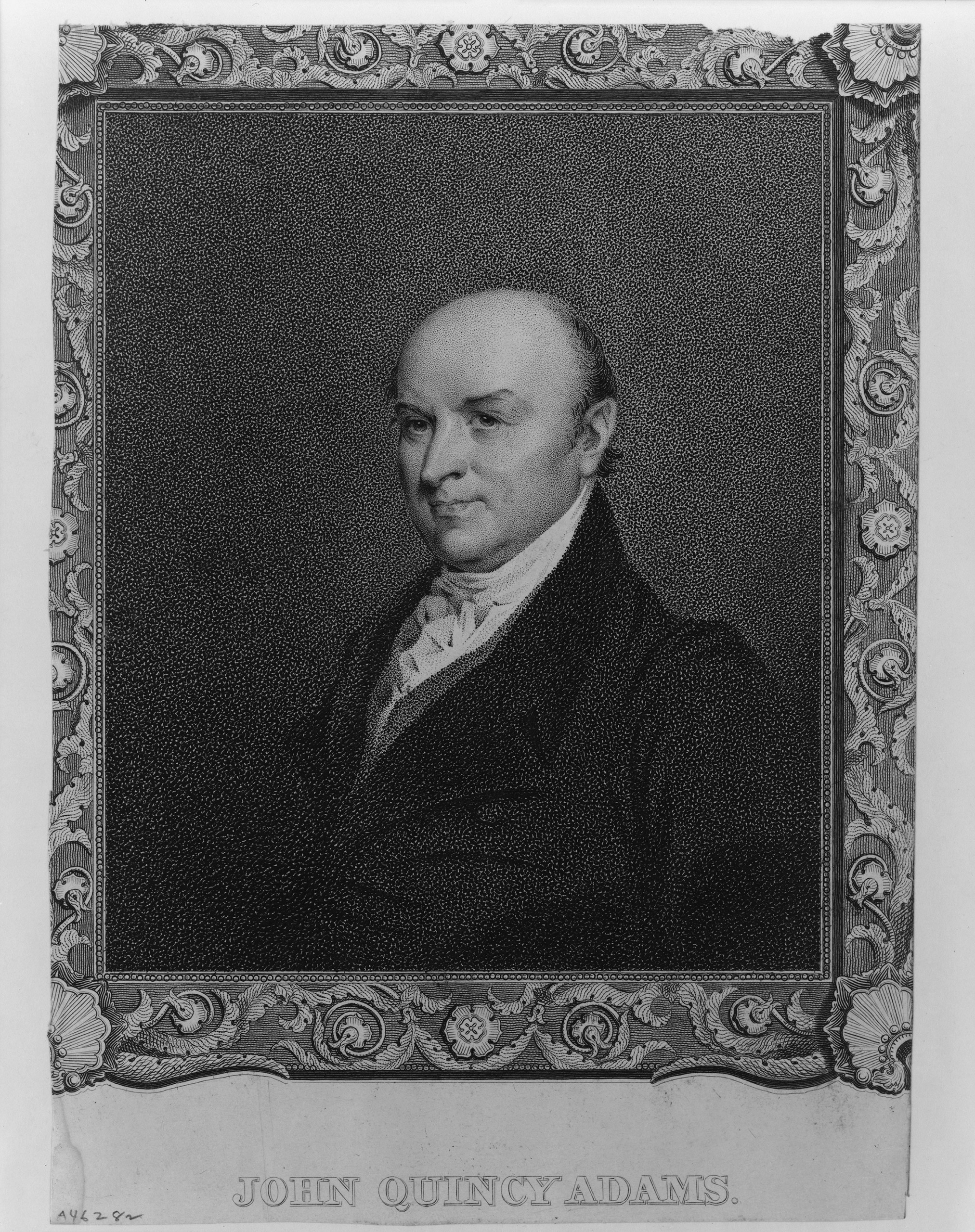 John Quincy Adams, the year of his first inauguration in 1825.