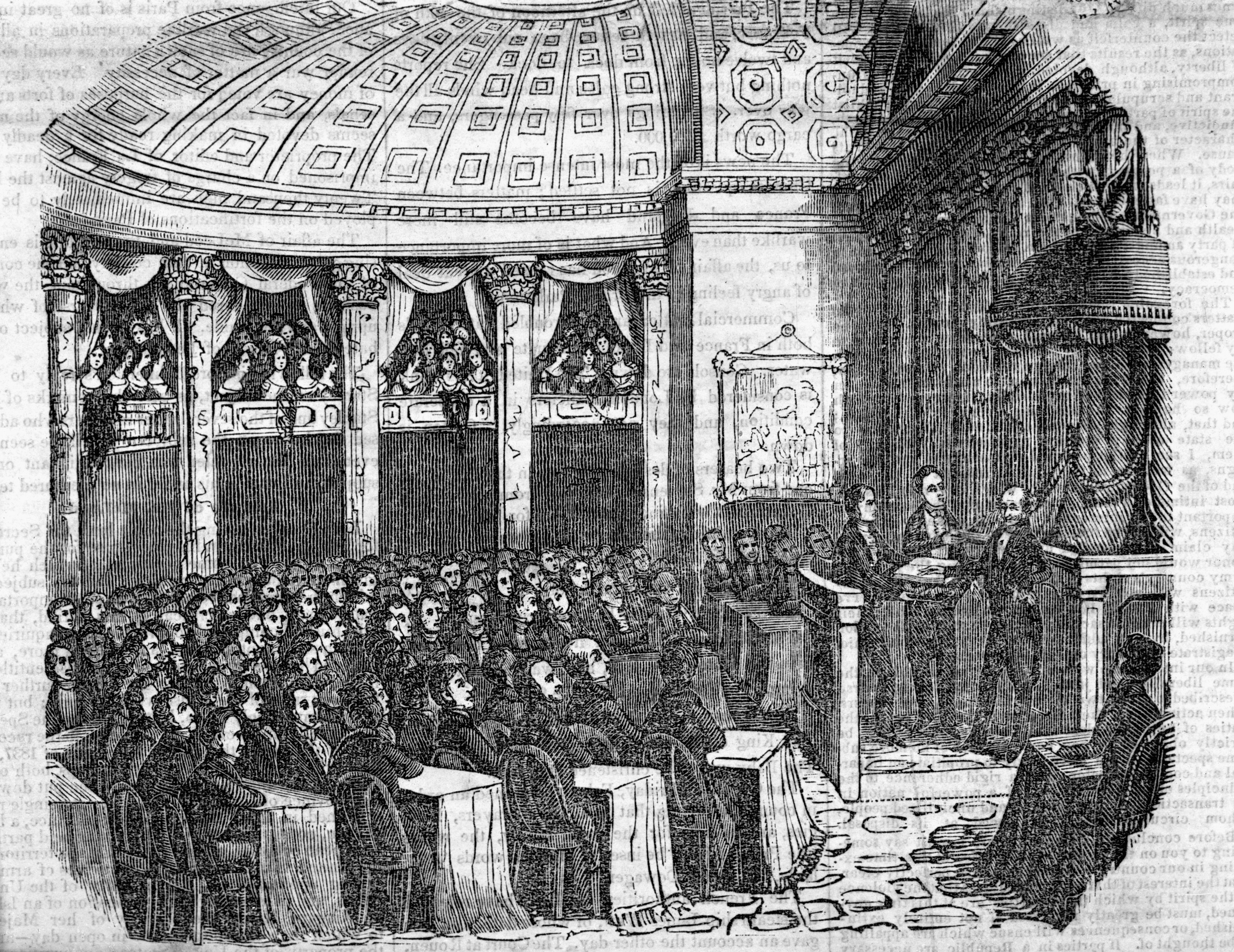 Inauguration of Martin Van Buren in the Senate Chamber, March 4, 1837.