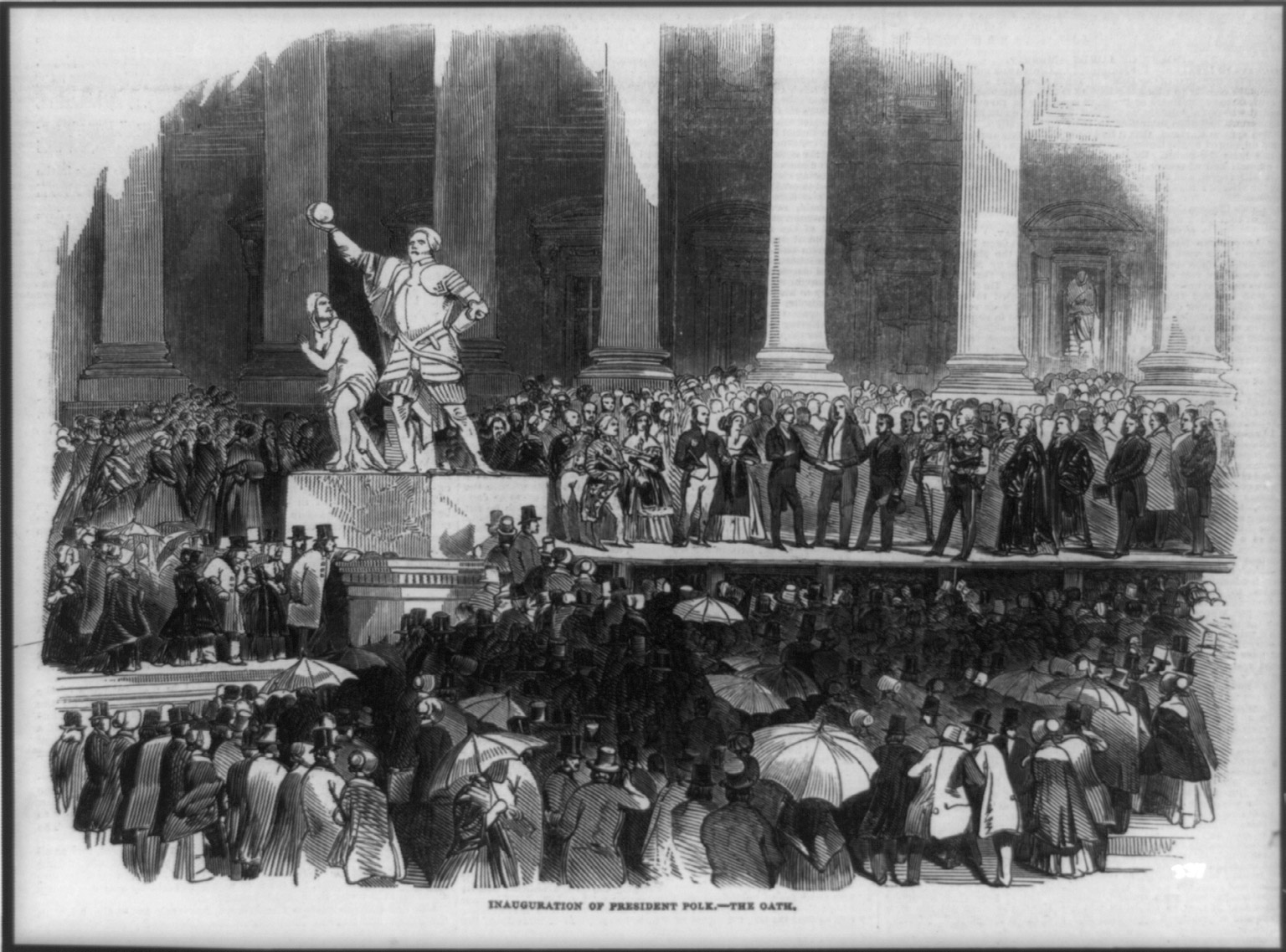 Inauguration of James Knox Polk, 1845.