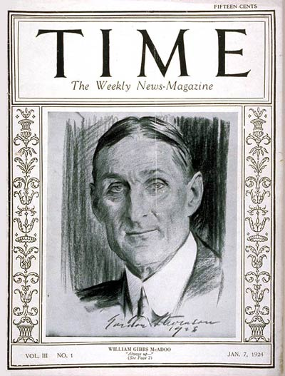 The January 7, 1924, issue of TIME illustrated by Gordon Stevenson