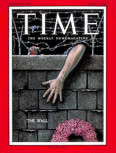 The cover story of TIME's Aug. 31, 1962, issue, was entitled  Wall of Shame