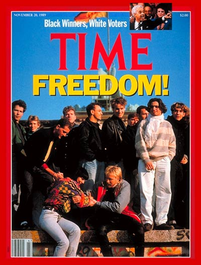 TIME's Nov. 20, 1989, cover about the fall of the Berlin Wall
