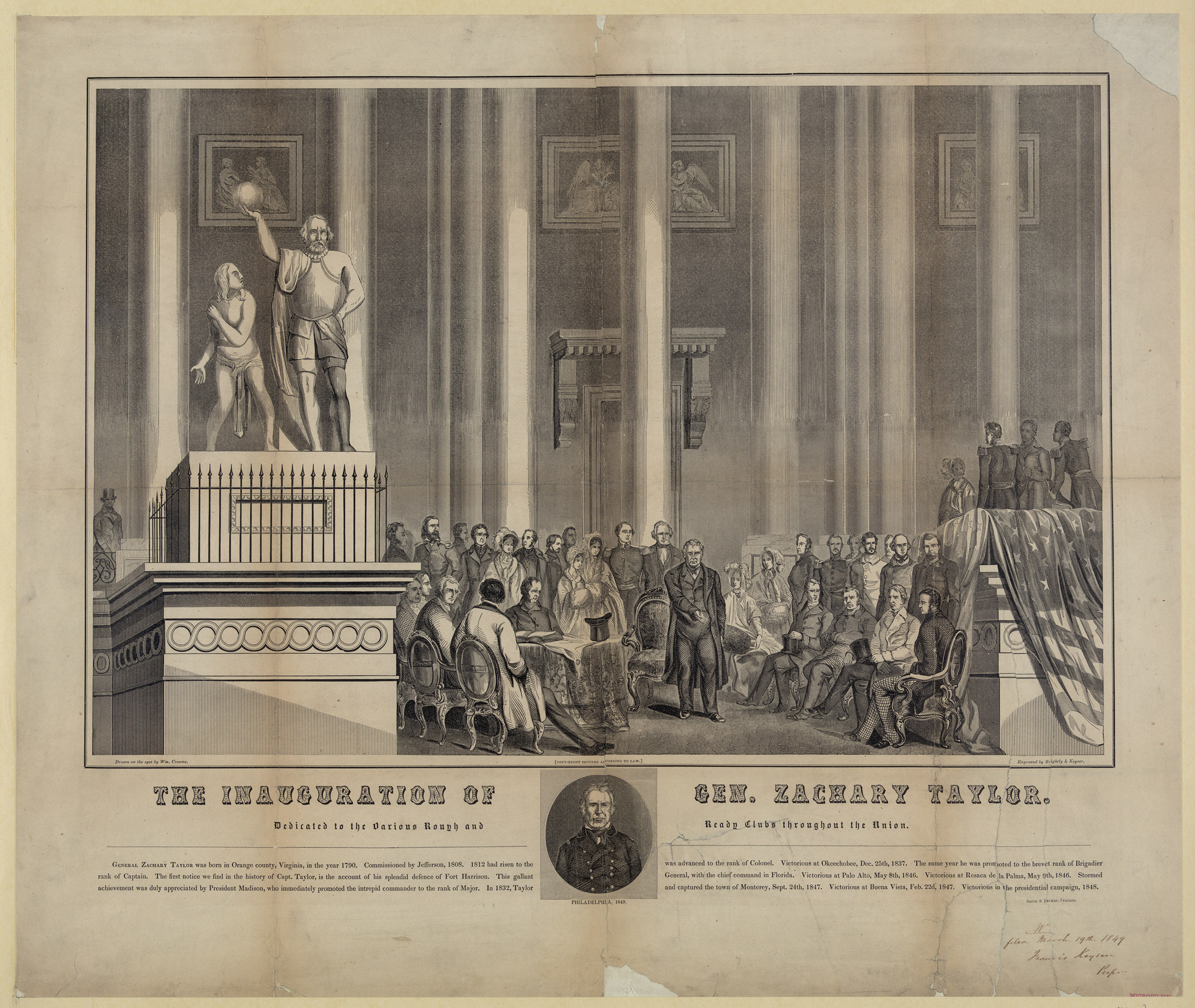 Inauguration of Zachary Taylor, 1849.