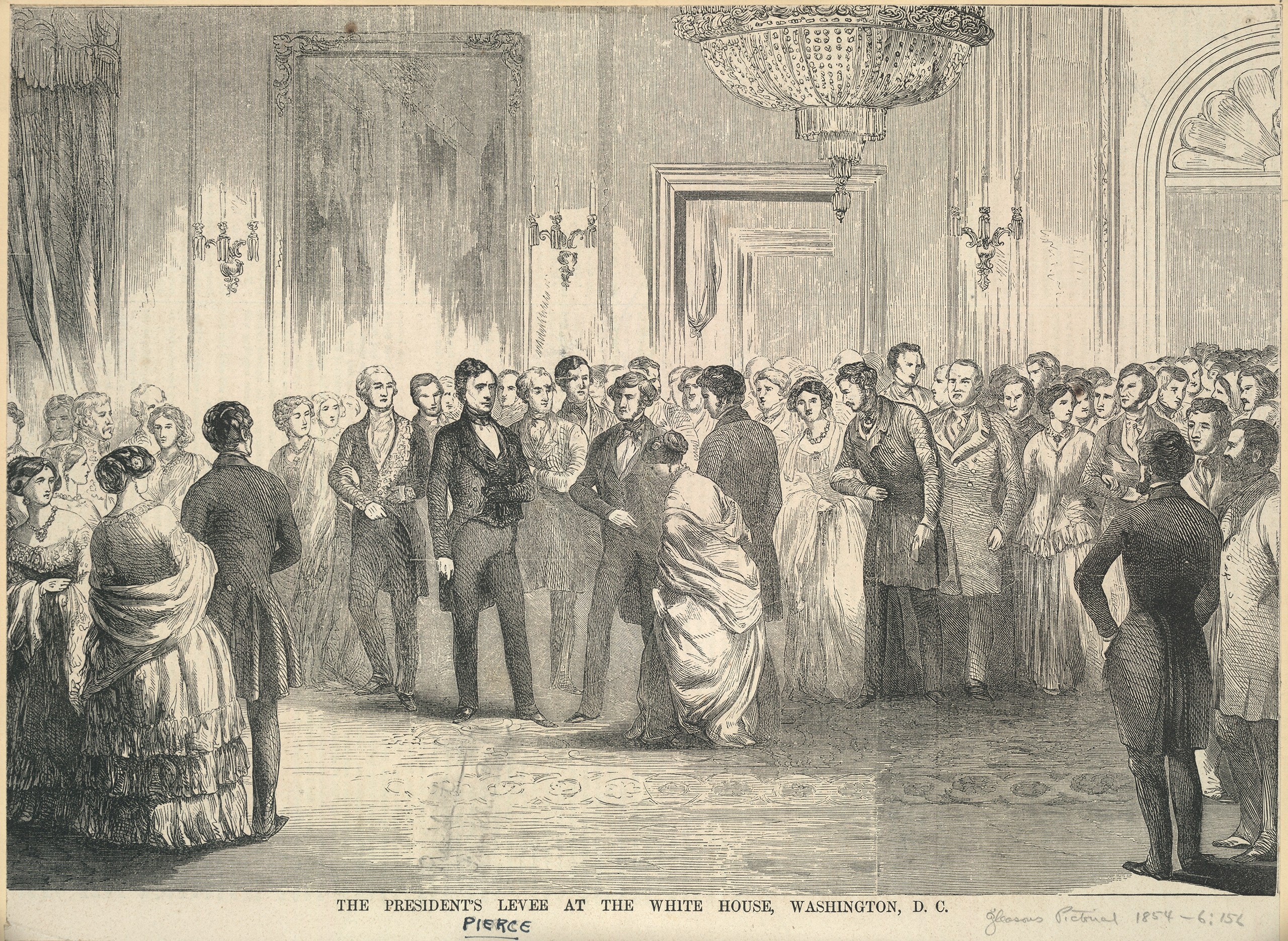 Franklin Pierce's Inaugural reception scene, 1853.