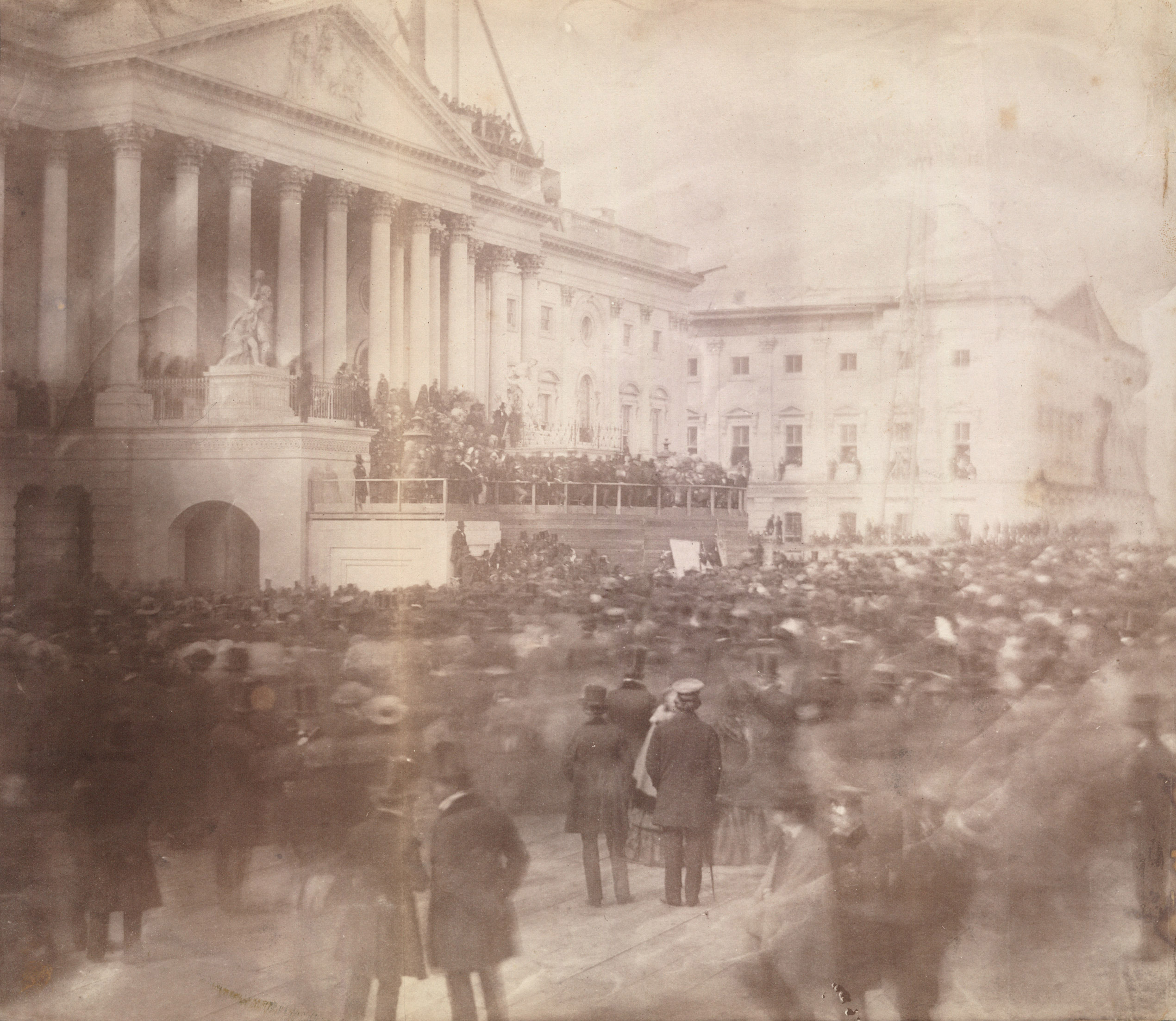 Inauguration of James Buchanan, President of the United States, at the east front of the U.S. Capitol, March 4, 1857.