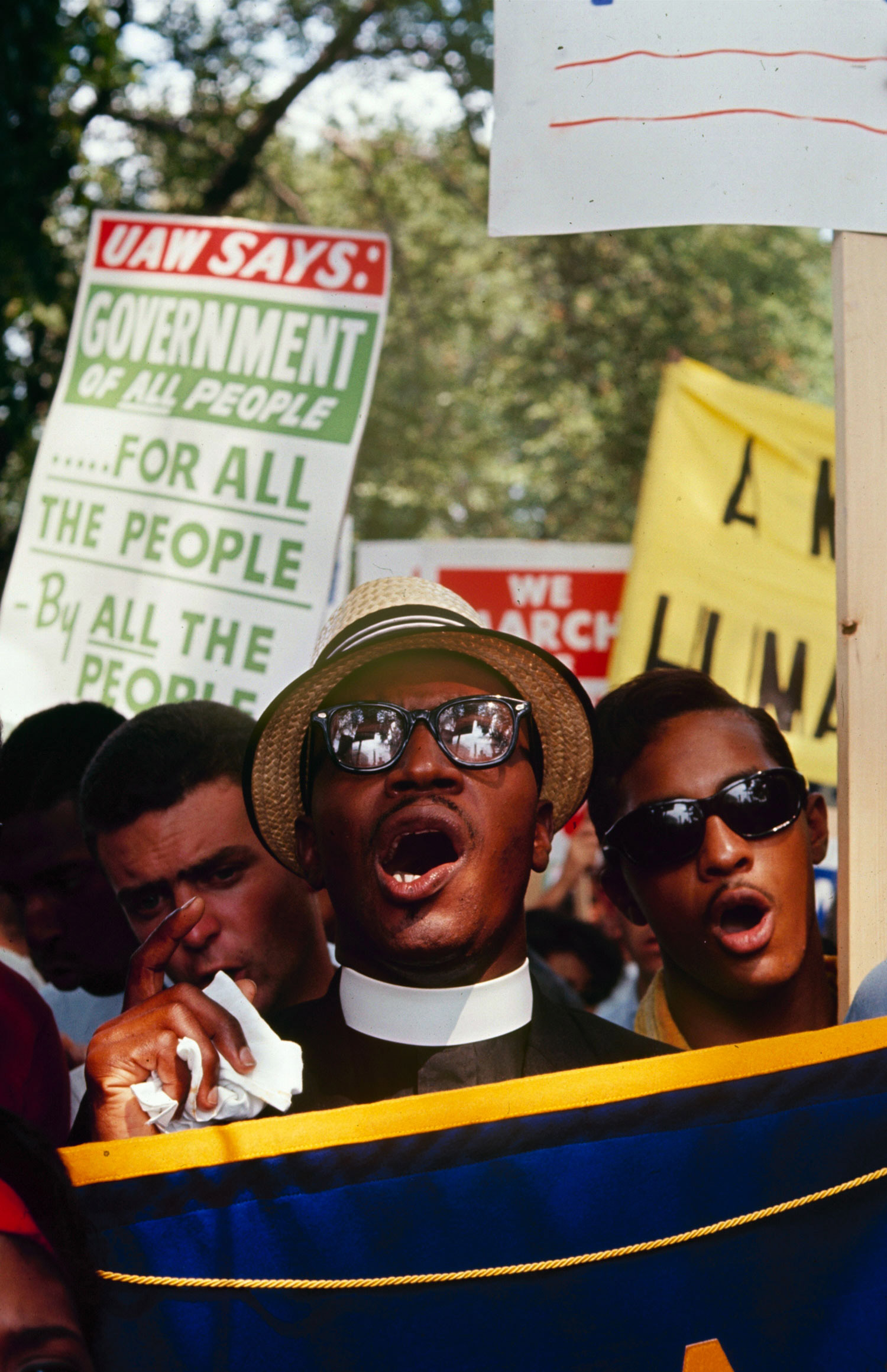 Scene from the March on Washington for Jobs and Freedom, Aug. 28, 1963.
