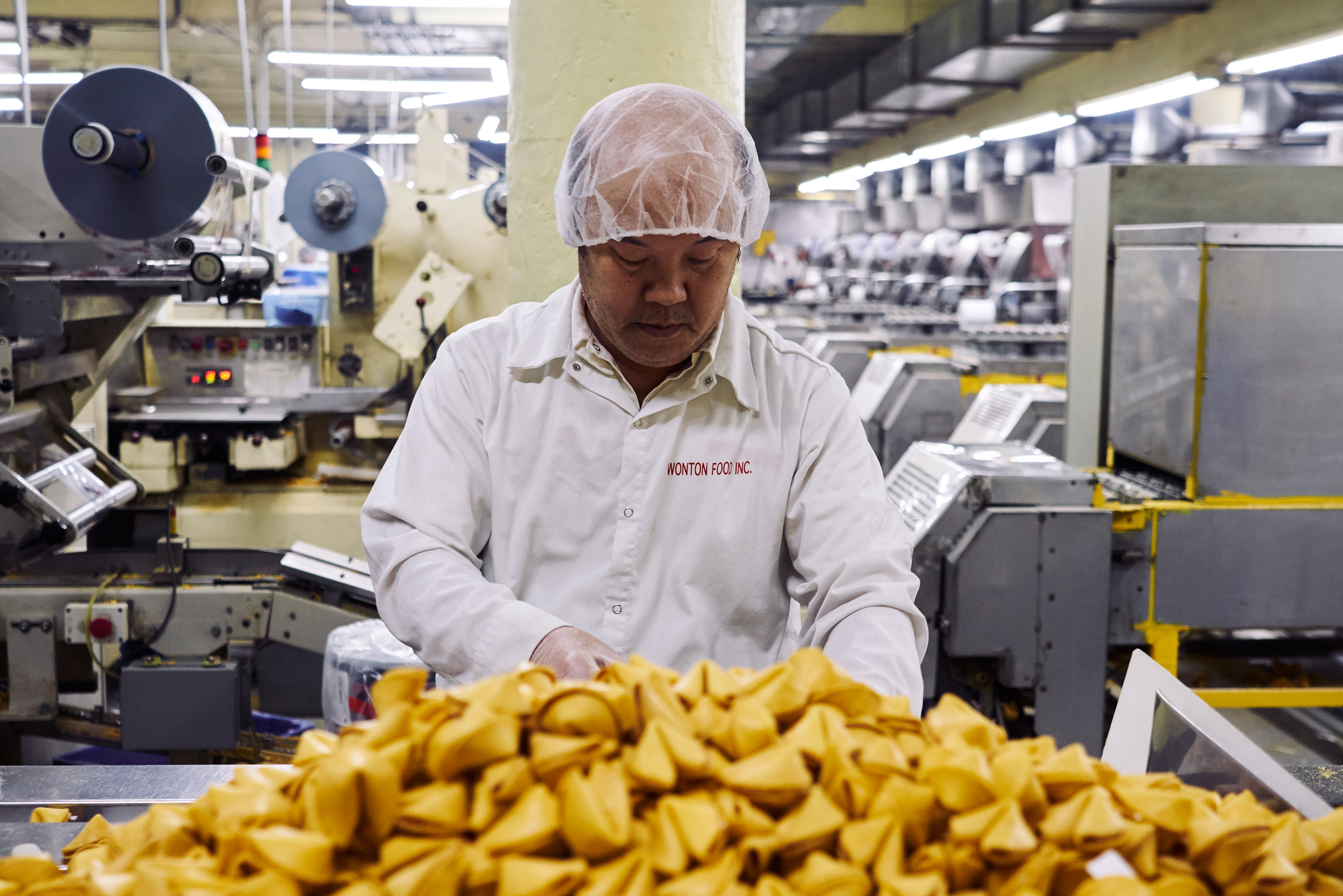 Inside the fortune cookie manufacturing plant Inside the fortune cookie manufacturing plant of Wonton Food Inc. Queens, N.Y. Jan. 18, 2017.