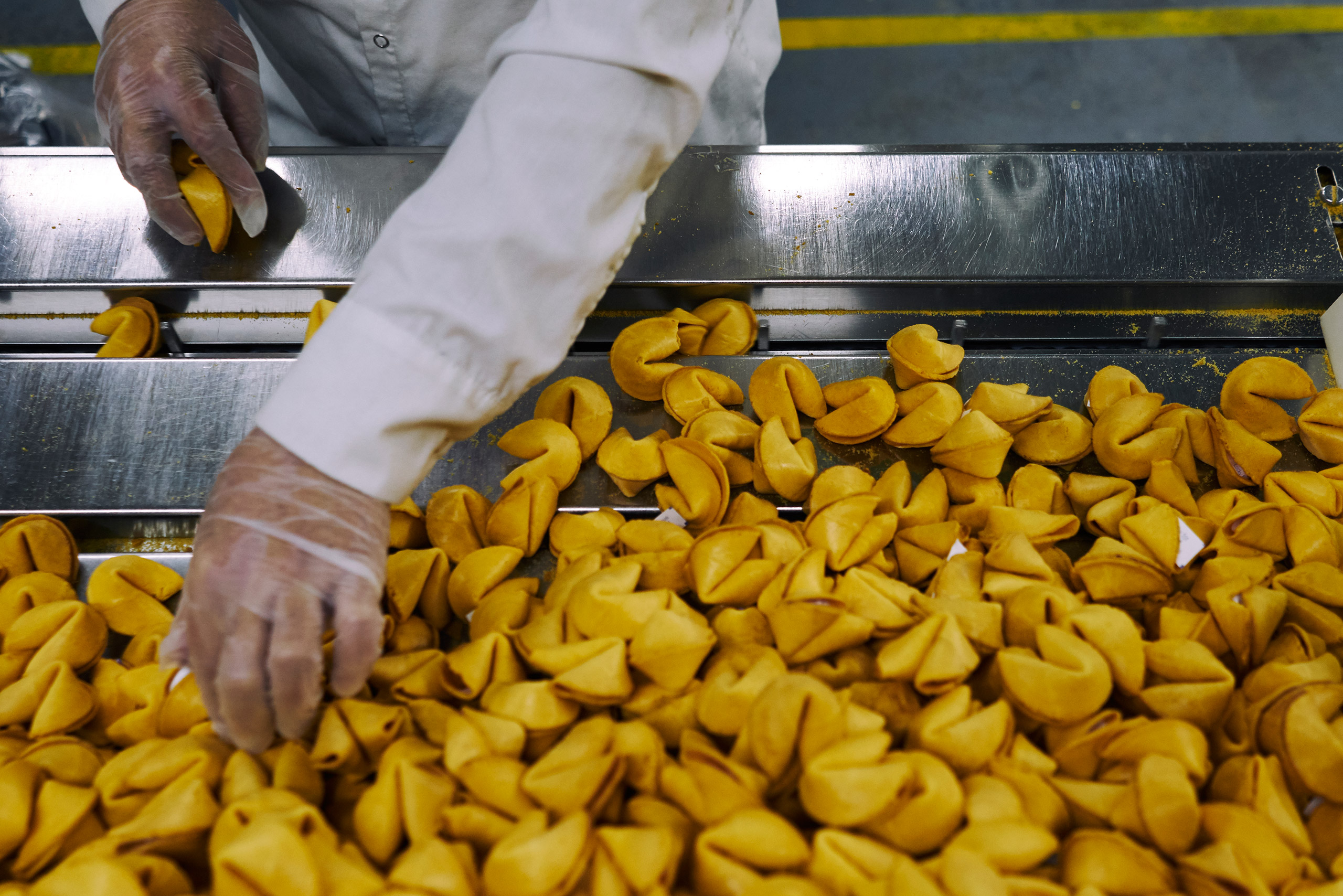 Inside the fortune cookie manufacturing plant of Wonton Food Inc. Queens, N.Y. Jan. 18, 2017.