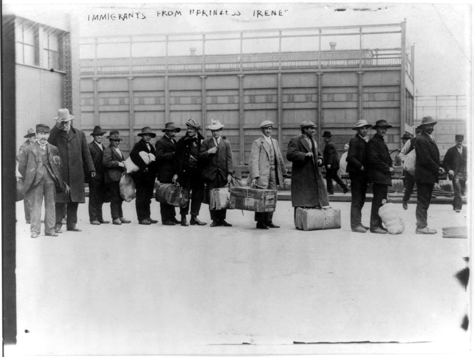 Immigrants from  Princess Irene,  Ellis Island, 1911.