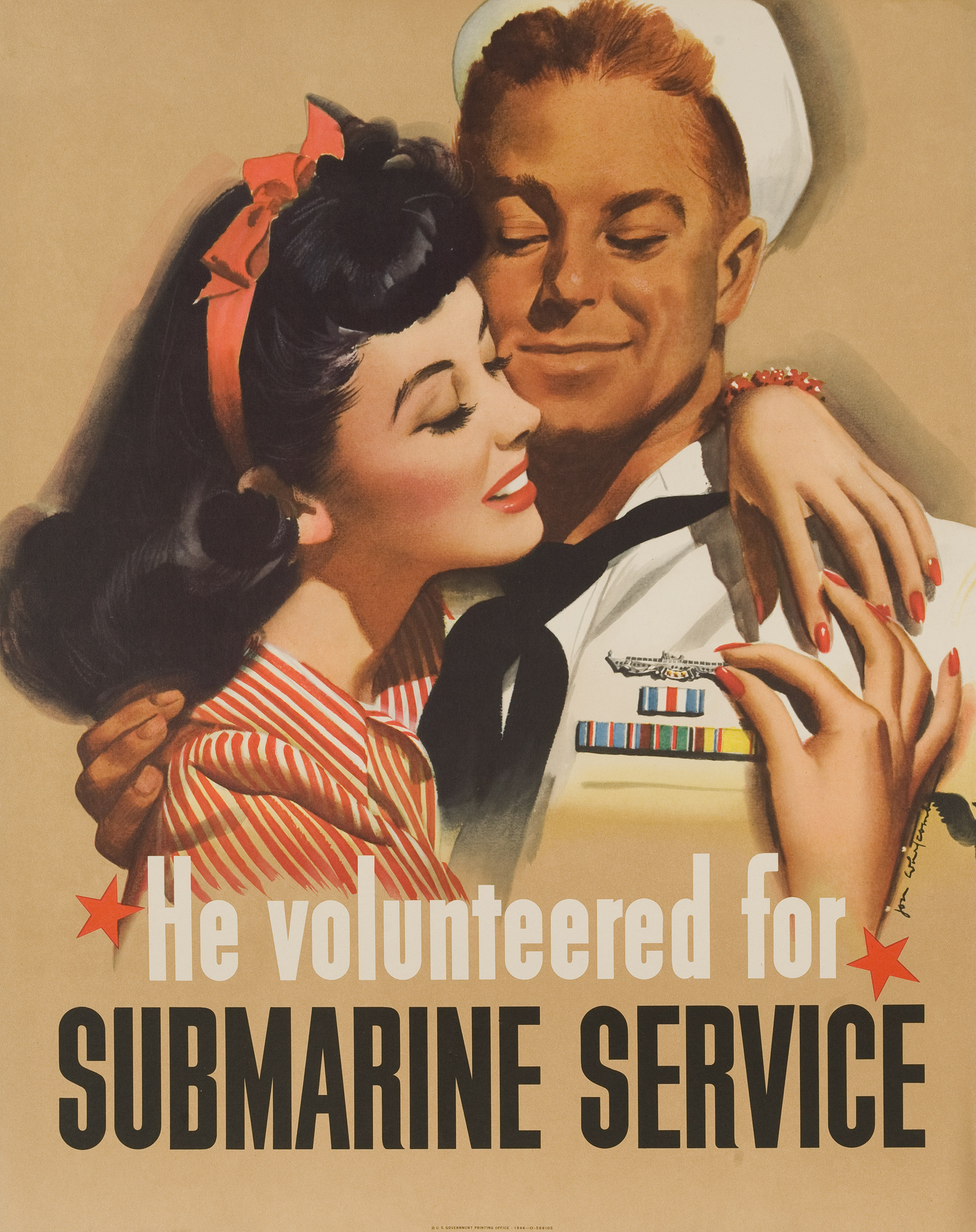 He volunteered for Submarine Service. U.S. Government Printing Office, ca. 1944.