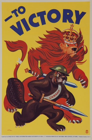 Canadian WWII war poster circa 1942.