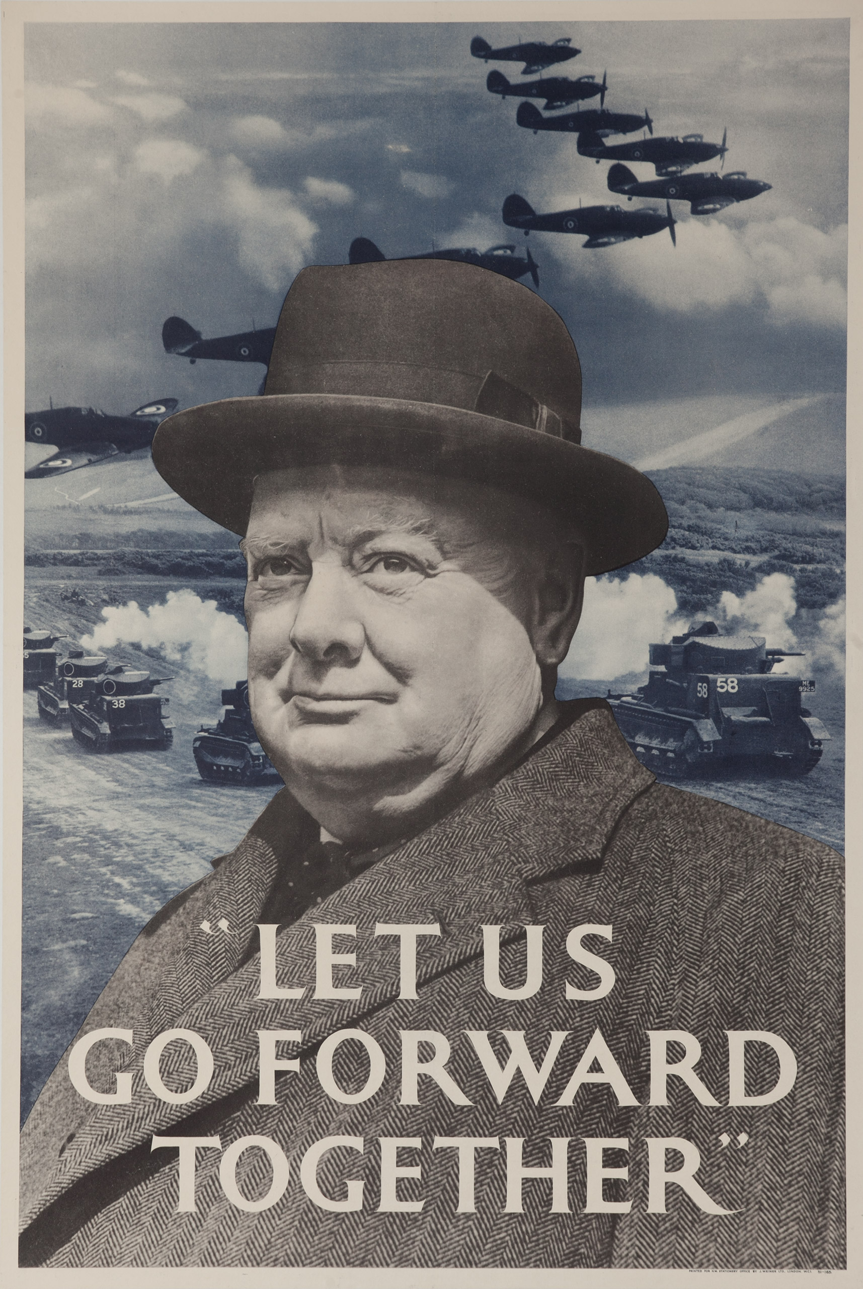 Let Us Go Forward Together.  WWII poster from London, England, ca. 1940.