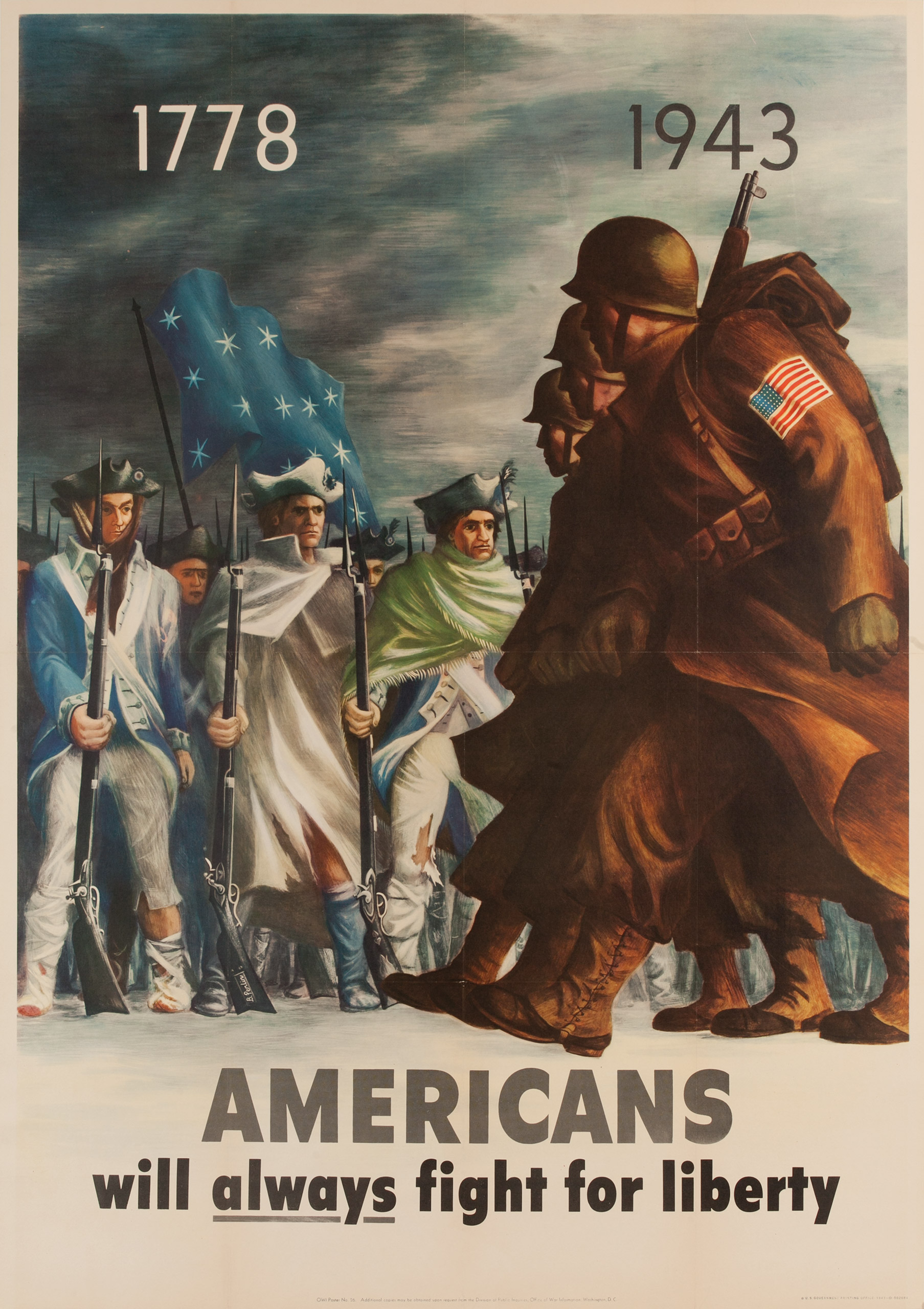 Americans will always fight for liberty.  OWI poster no. 15, 1942.