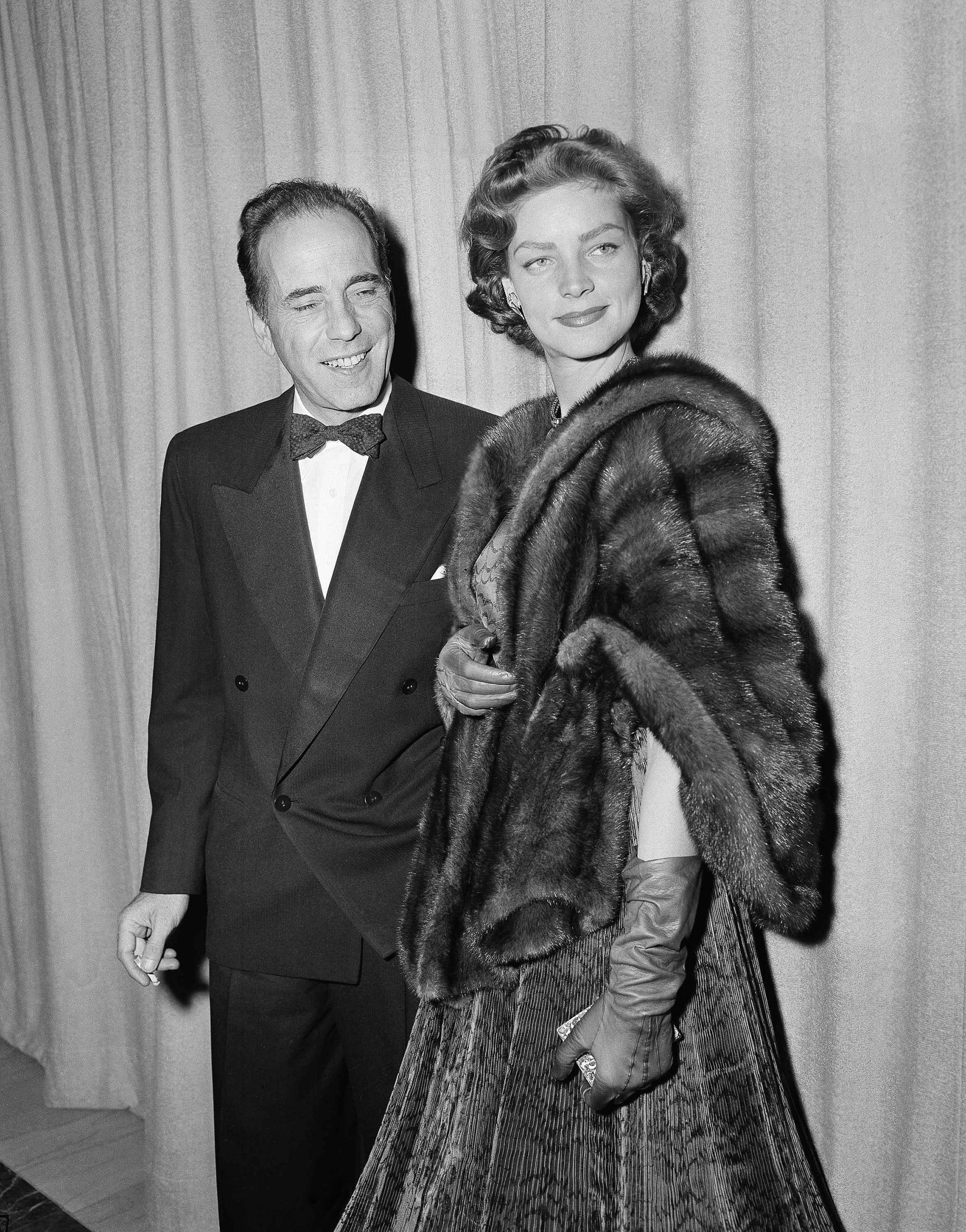 Humphrey Bogart and Lauren Bacall at the Academy Awards, 1952.