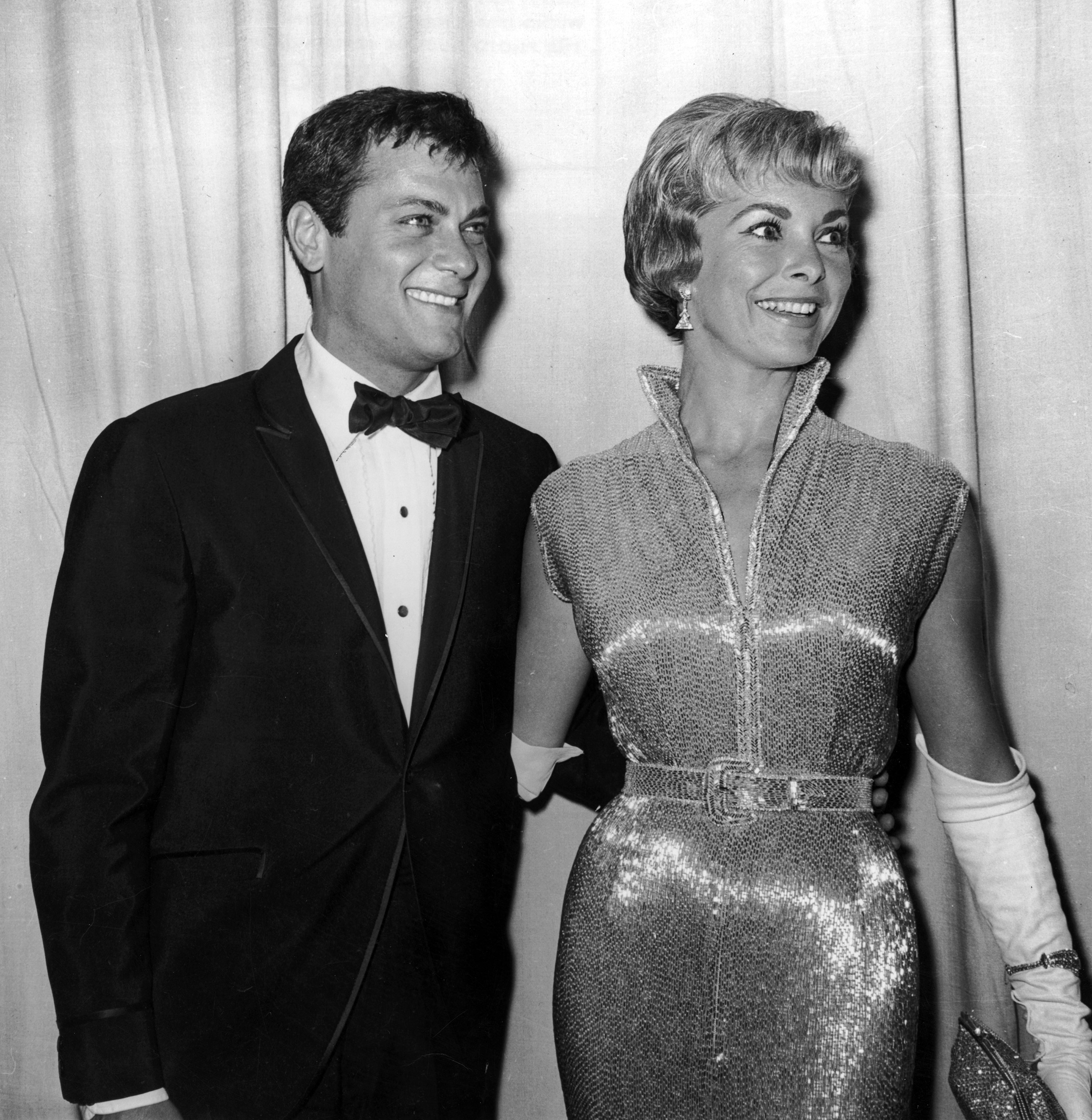 Tony Curtis and Janet Leigh at the Academy Awards, 1960.