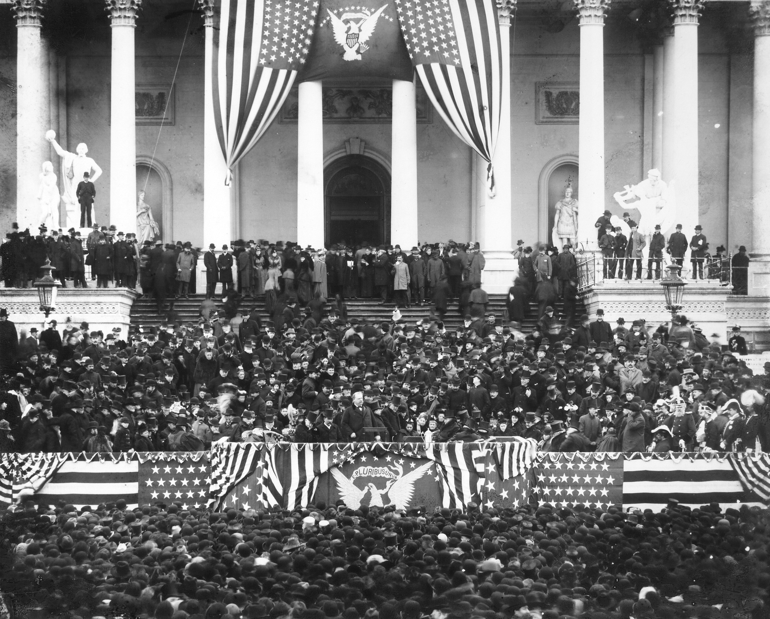 Grover Cleveland's second inauguration, 1893.