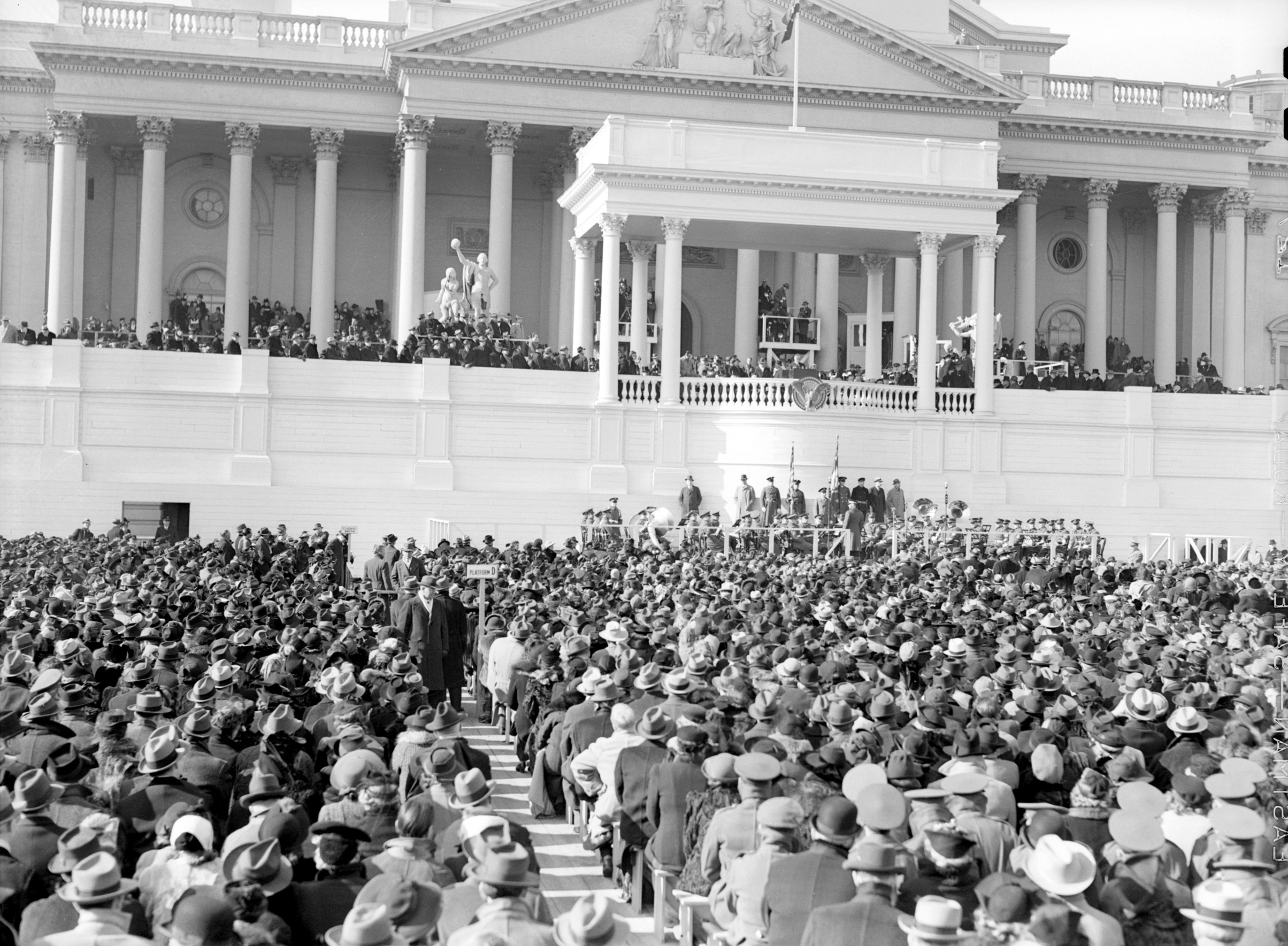 Franklin D. Roosevelt's third inauguration, 1941.