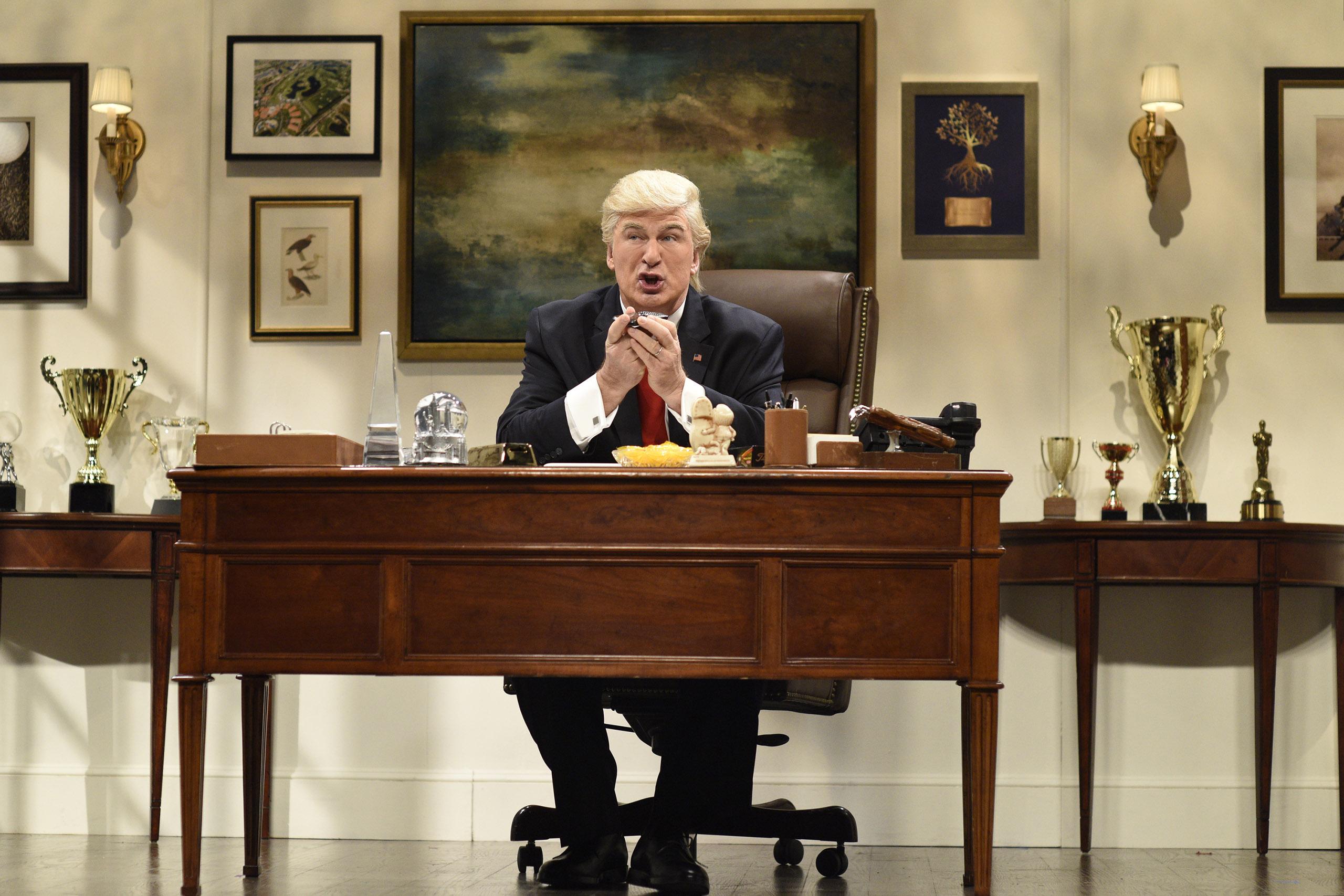 Alec Baldwin as Donald Trump during the  Donald Trump Prepares Cold Open  sketch on Nov. 19, 2016