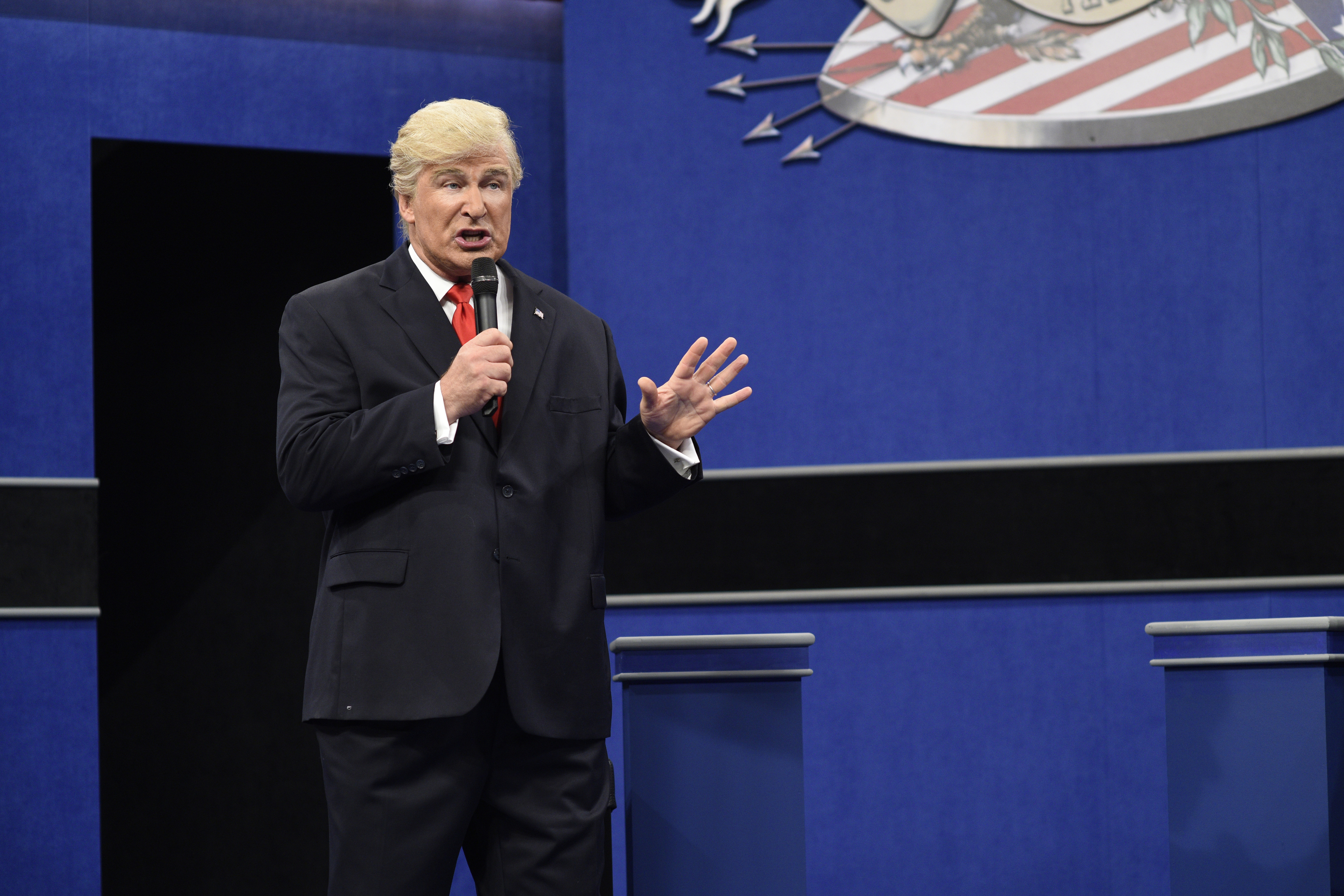 Alec Baldwin as Republican Presidential Candidate Donald Trump during the  Debate Cold Open  sketch on October 15, 2016.
