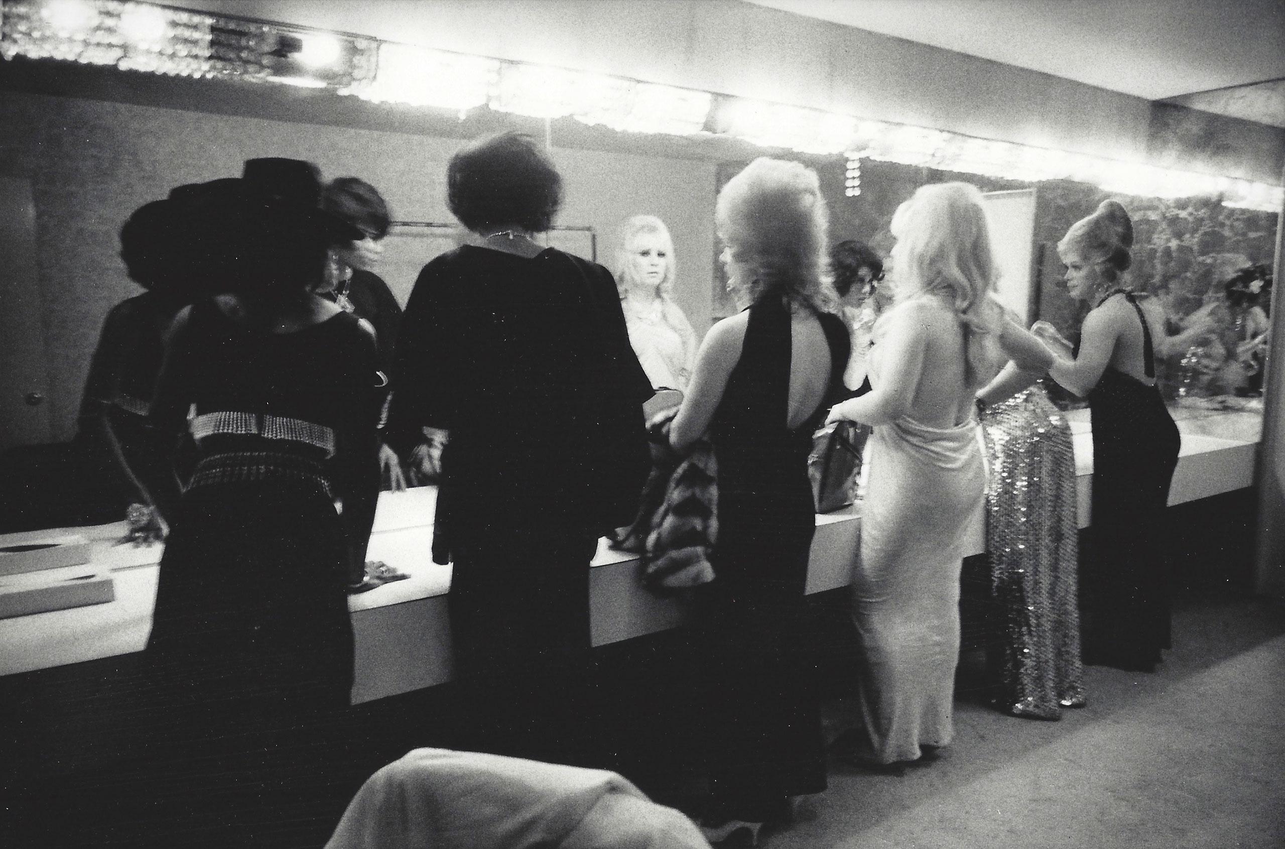 Drag Queens at the Mirror, Long Beach, 1971.