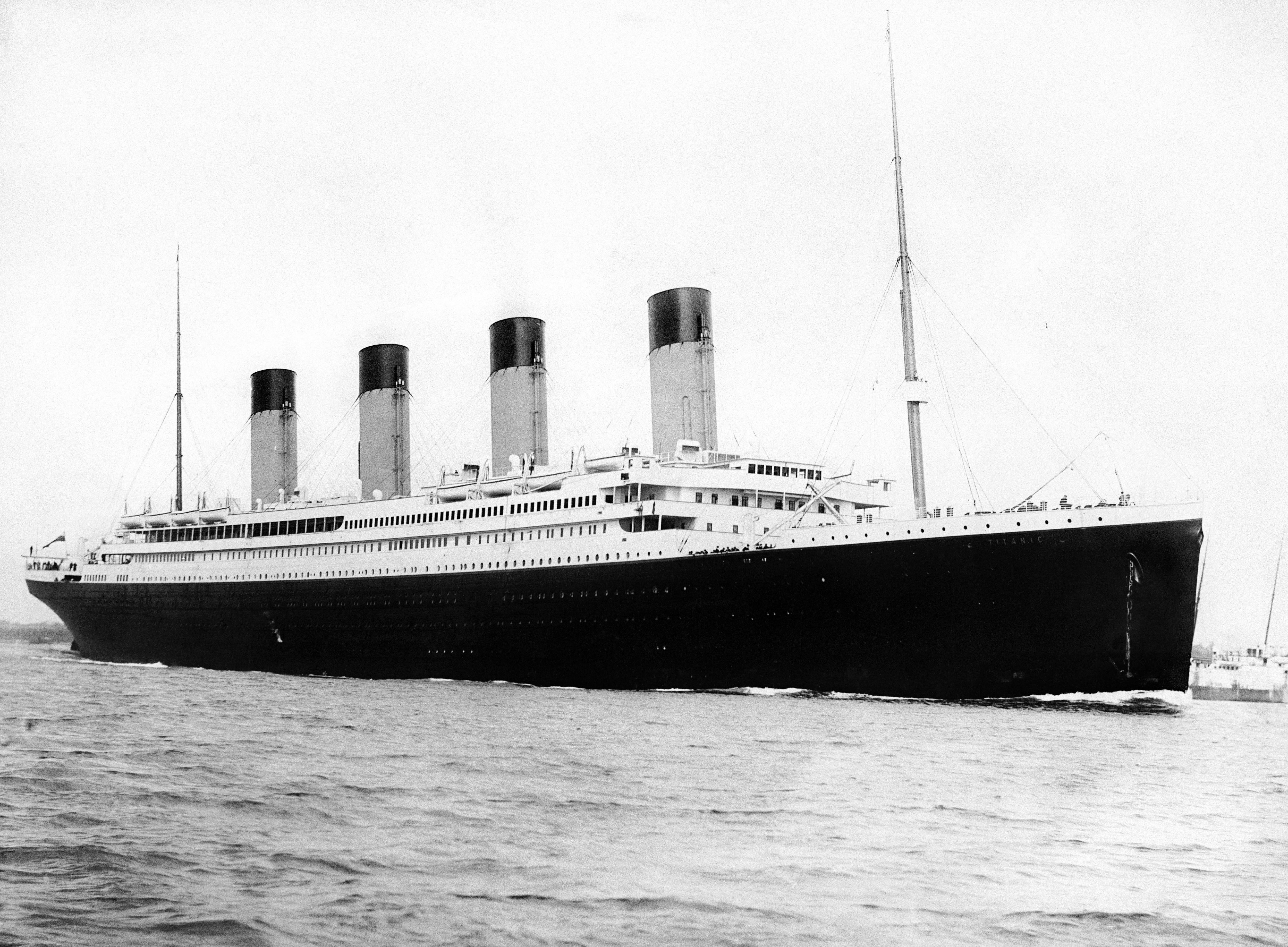 Titanic sinking anniversary. File photo c1912 of the RMS Titanic. Issue date date: Tuesday December 27, 2011. The 100th anniversary of the sinking of the doomed liner takes place next year on April 15th. 1,517 people died when the passenger liner struck an iceberg on her maiden voyage. See PA story SEA Titanic. Photo credit should read: PA Wire URN:12362758 (Press Association via AP Images)