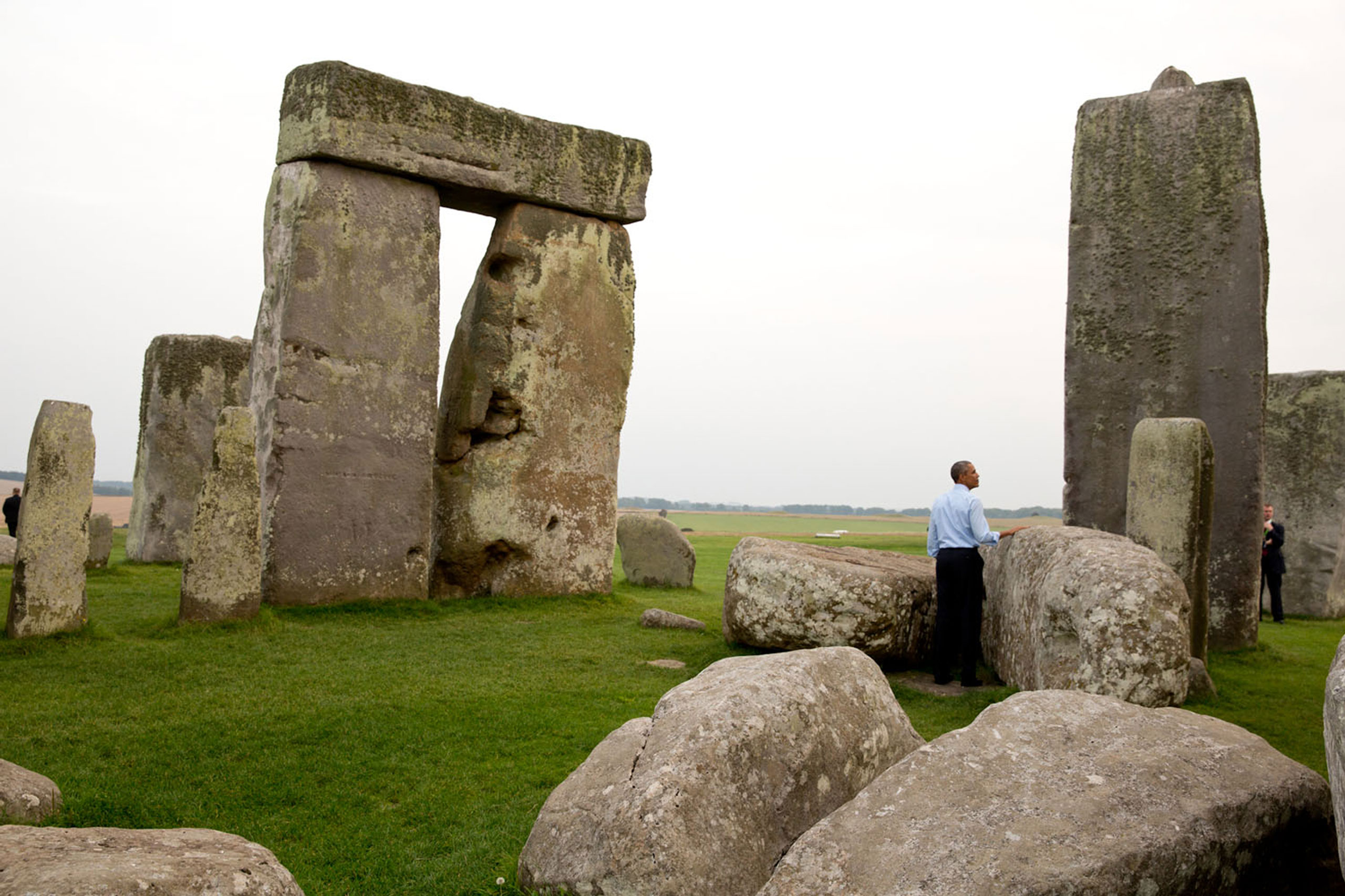 We were at the NATO Summit in Wales when someone mentioned to the President that Stonehenge wasn't that far away. 'Let's go,' he said. So when the Summit ended, we took a slight detour on the way back to Air Force One,  September 5, 2014.