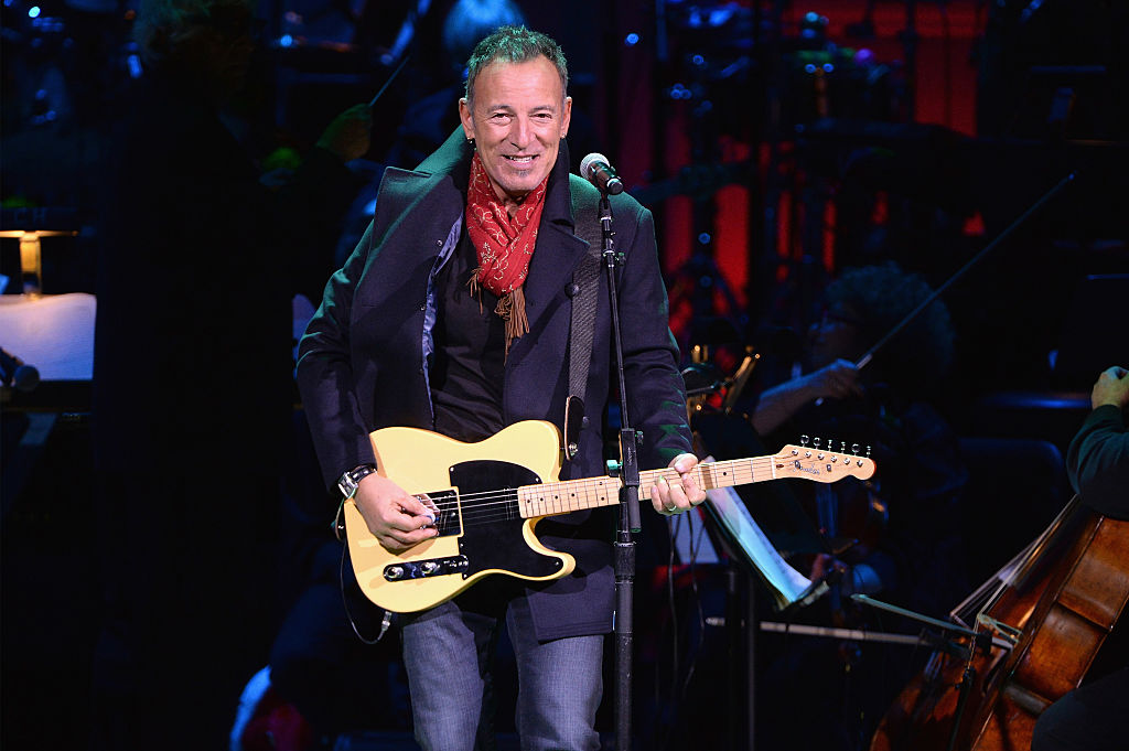 Bruce Springsteen performs onstage during The Revlon Concert for the Rainforest Fund,  Baby It's Cold Outside  at Carnegie Hall on December 14, 2016 in New York City.